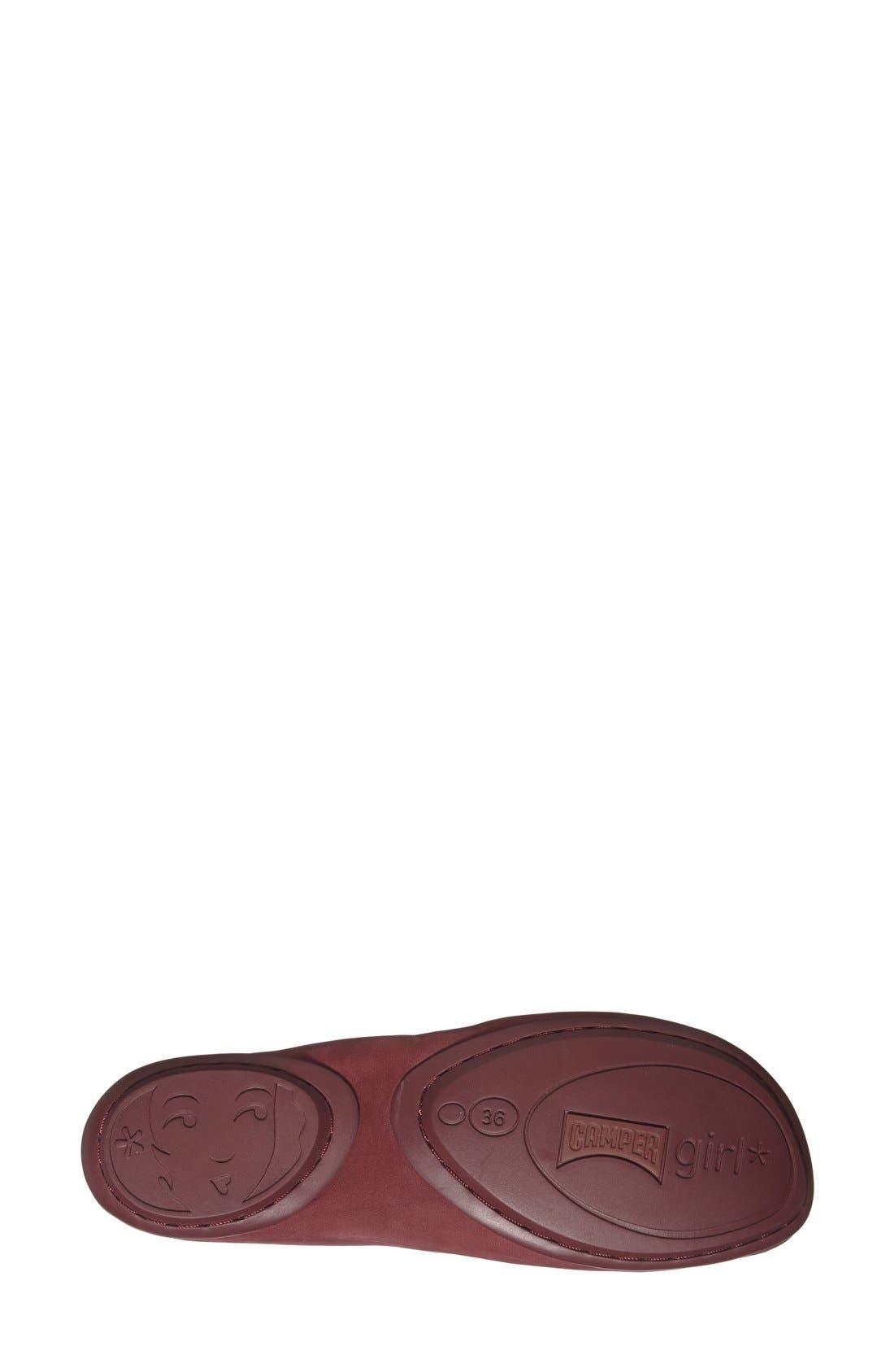 'Right Nina' Leather Flat,                             Alternate thumbnail 23, color,