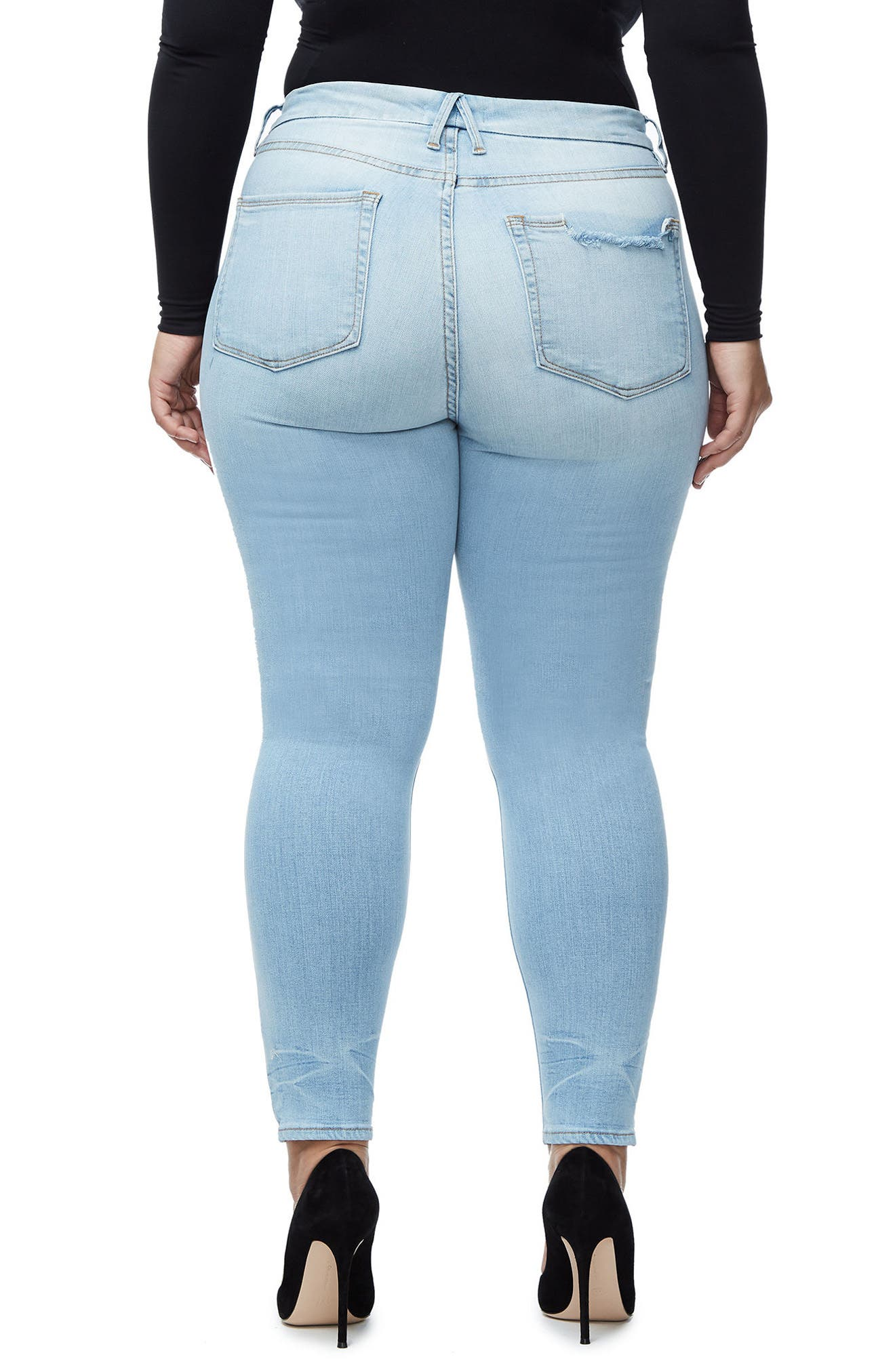 Good Legs High Waist Crop Skinny Jeans,                             Alternate thumbnail 9, color,                             401