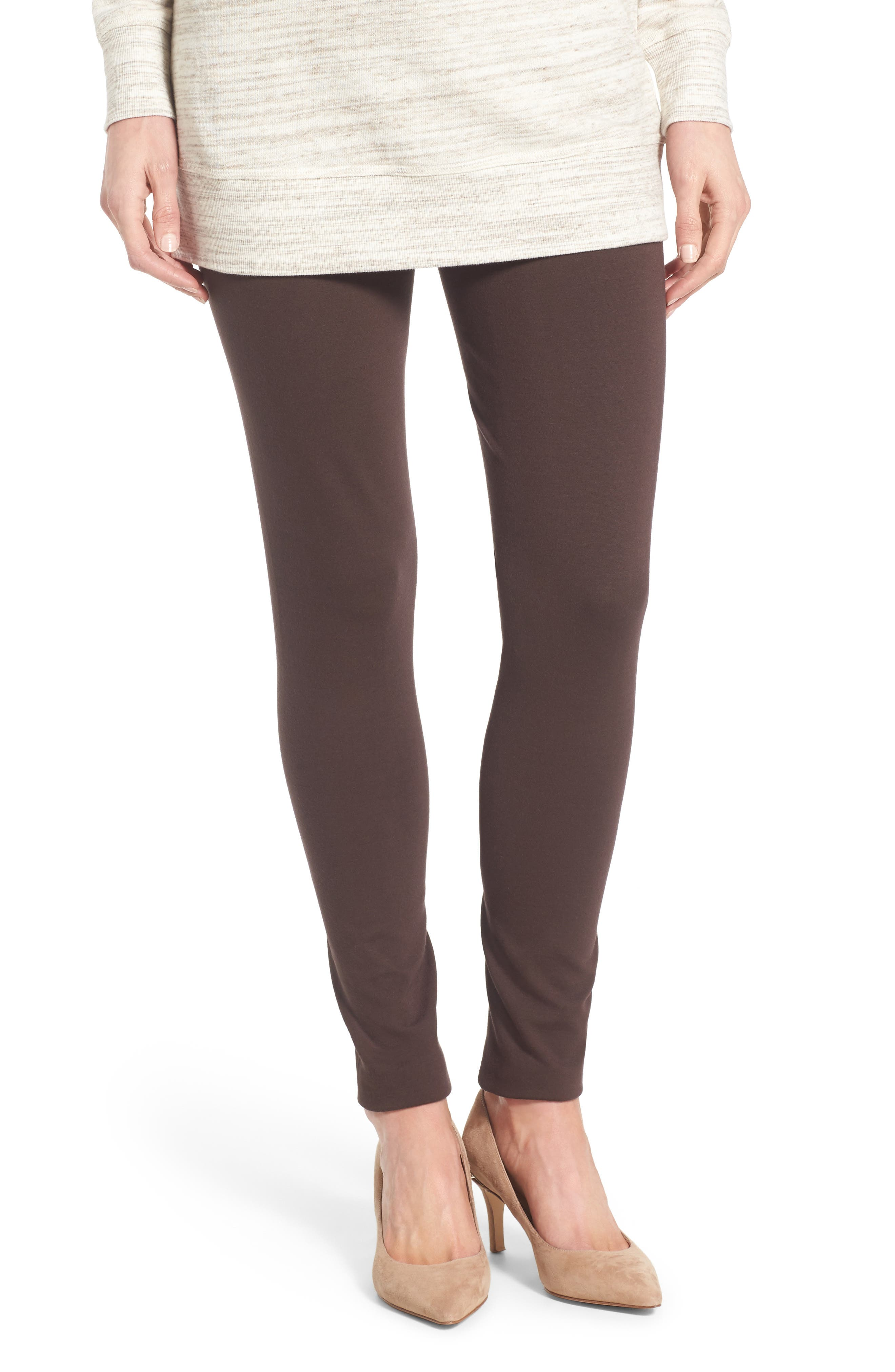 Two by Vince Camuto Seamed Back Leggings,                         Main,                         color, ESPRESSO
