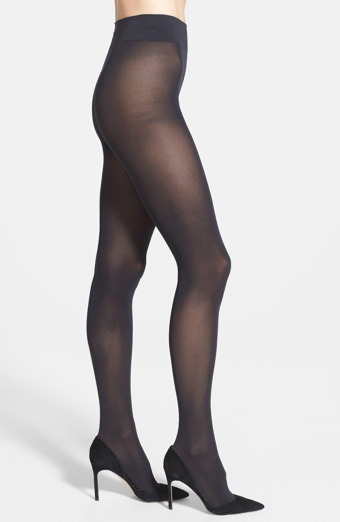 'Pure 50' Tights,                         Main,                         color, BLACK