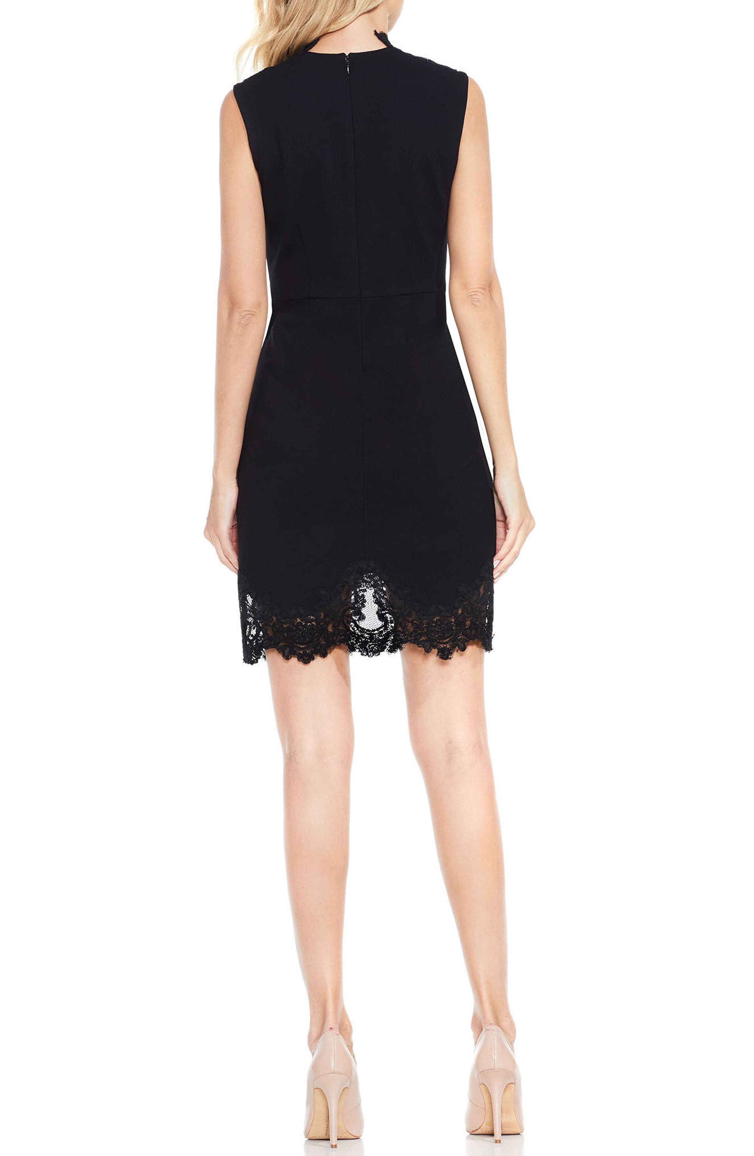 Lace Trim Sheath Dress,                             Alternate thumbnail 2, color,                             006