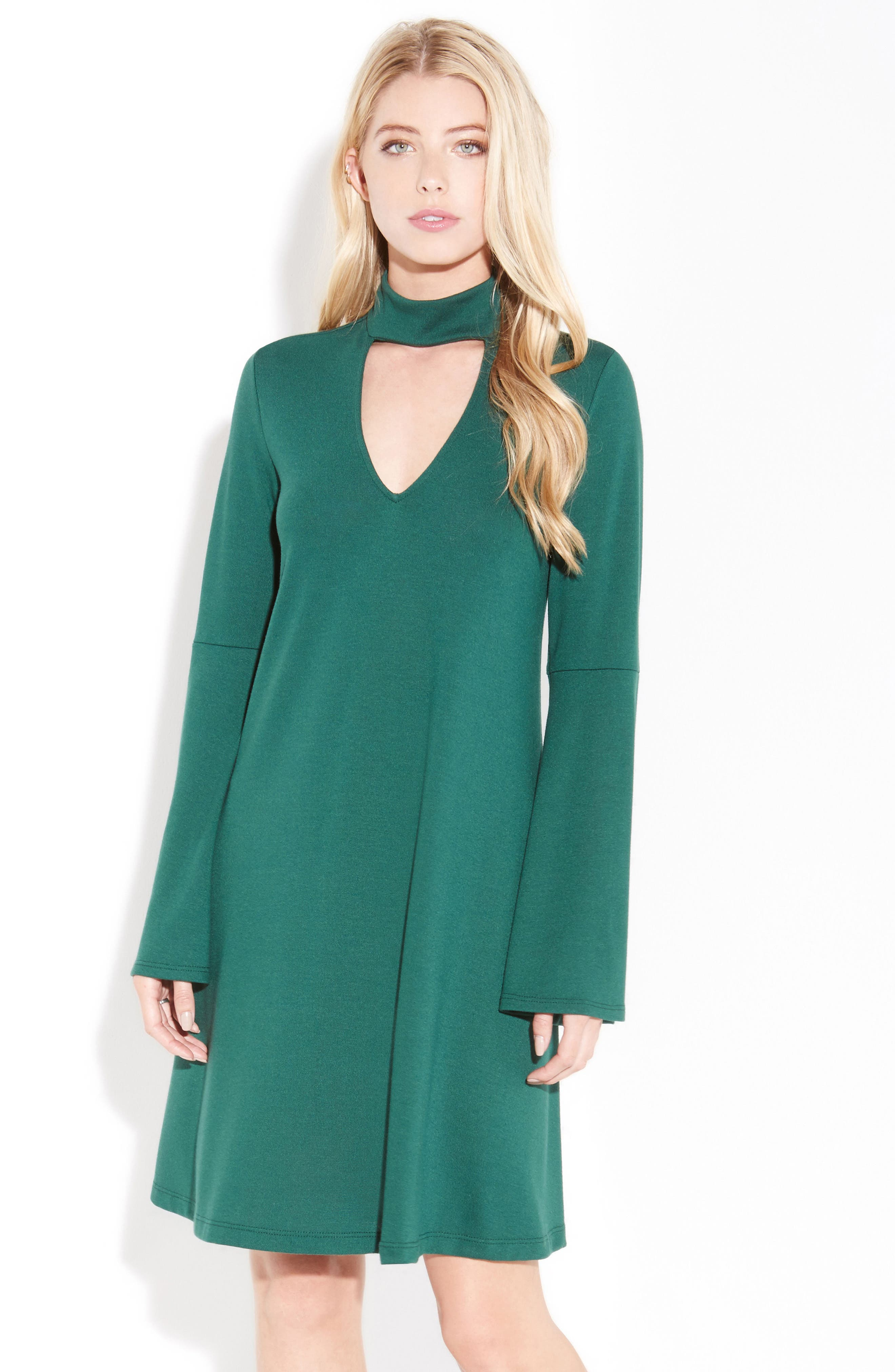 Taylor Choker Neck Dress,                             Alternate thumbnail 6, color,