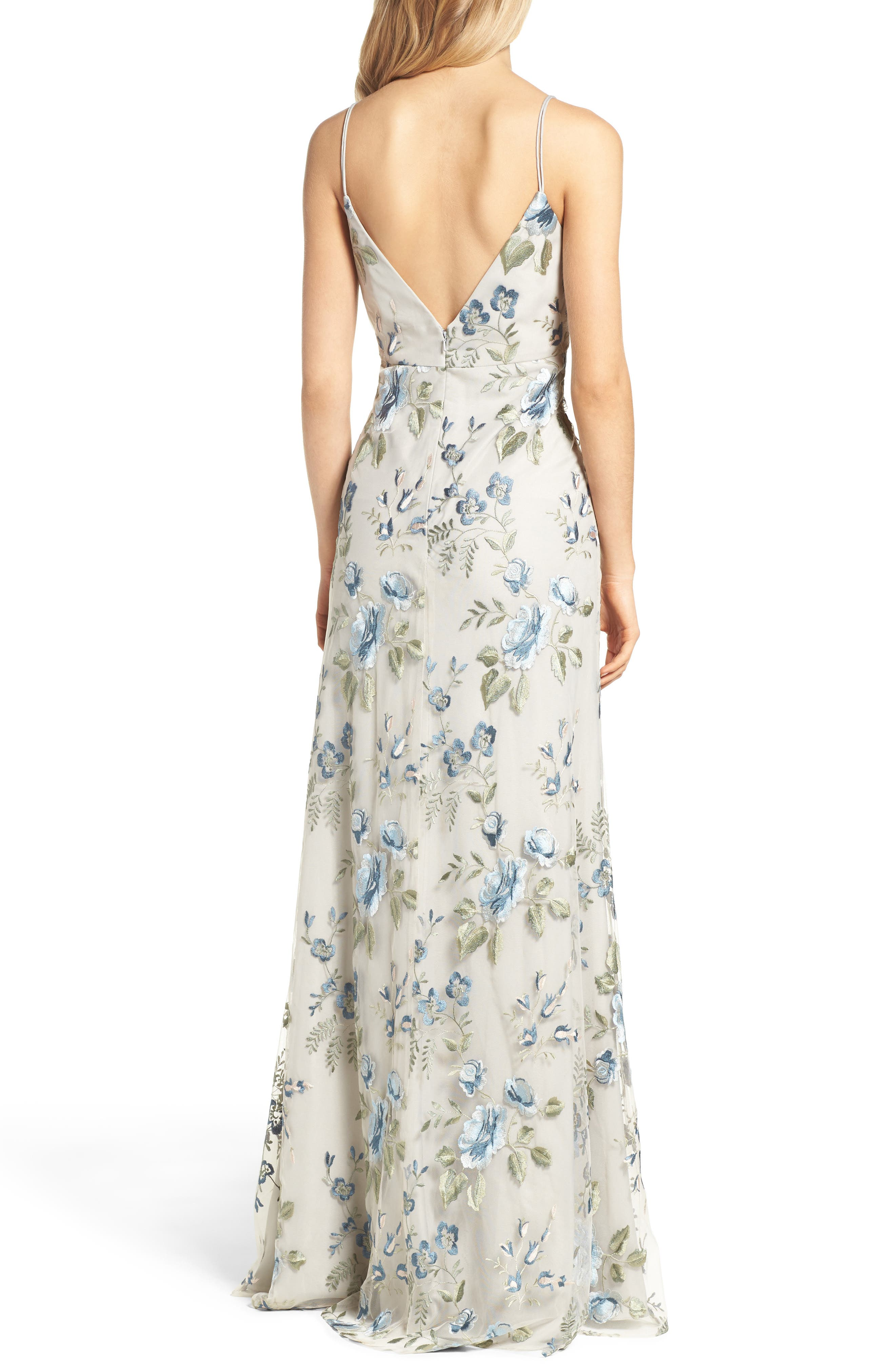 Julianna Embroidered Gown,                             Alternate thumbnail 2, color,                             461