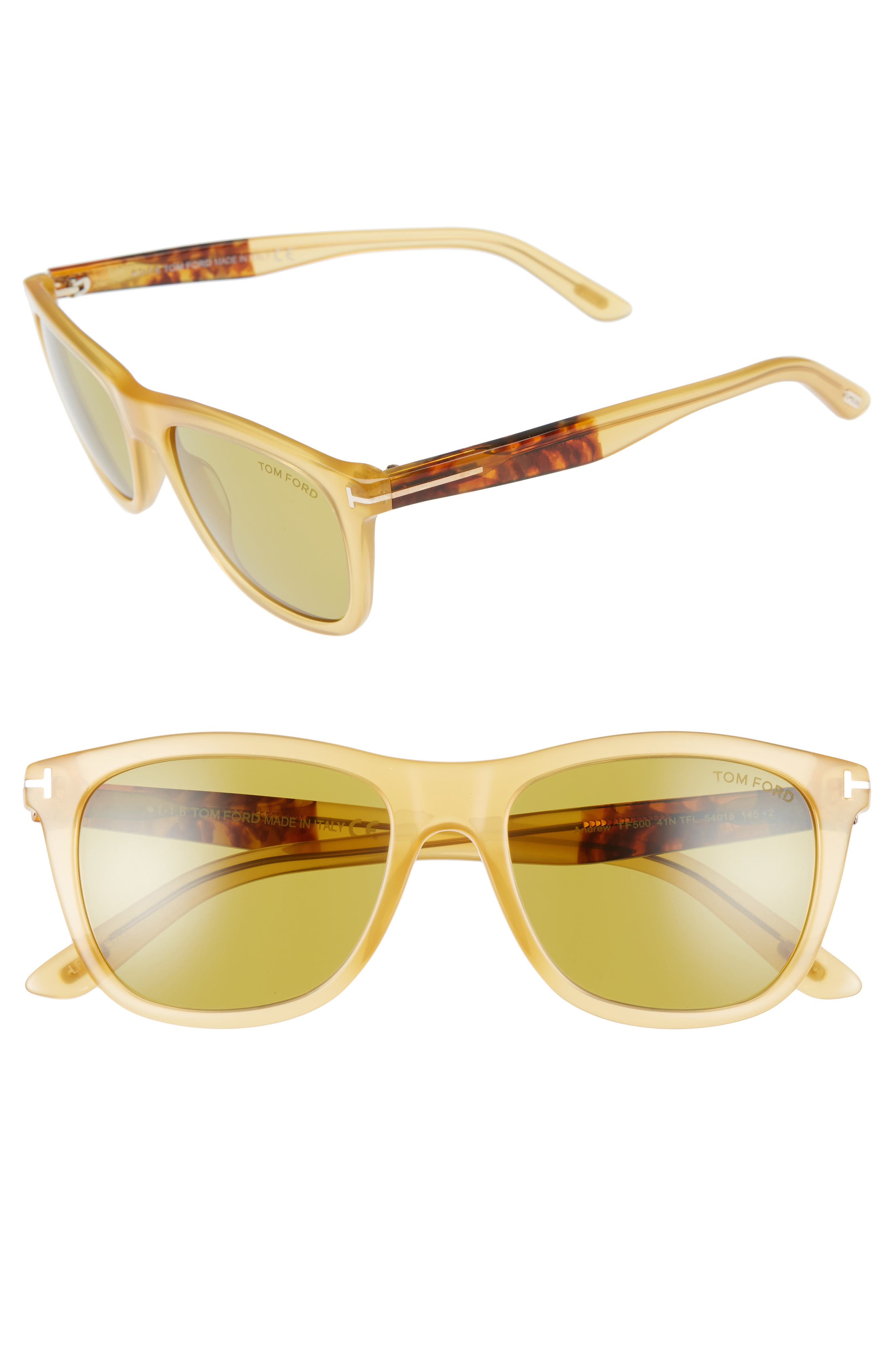 Andrew 54mm Sunglasses,                         Main,                         color, 250