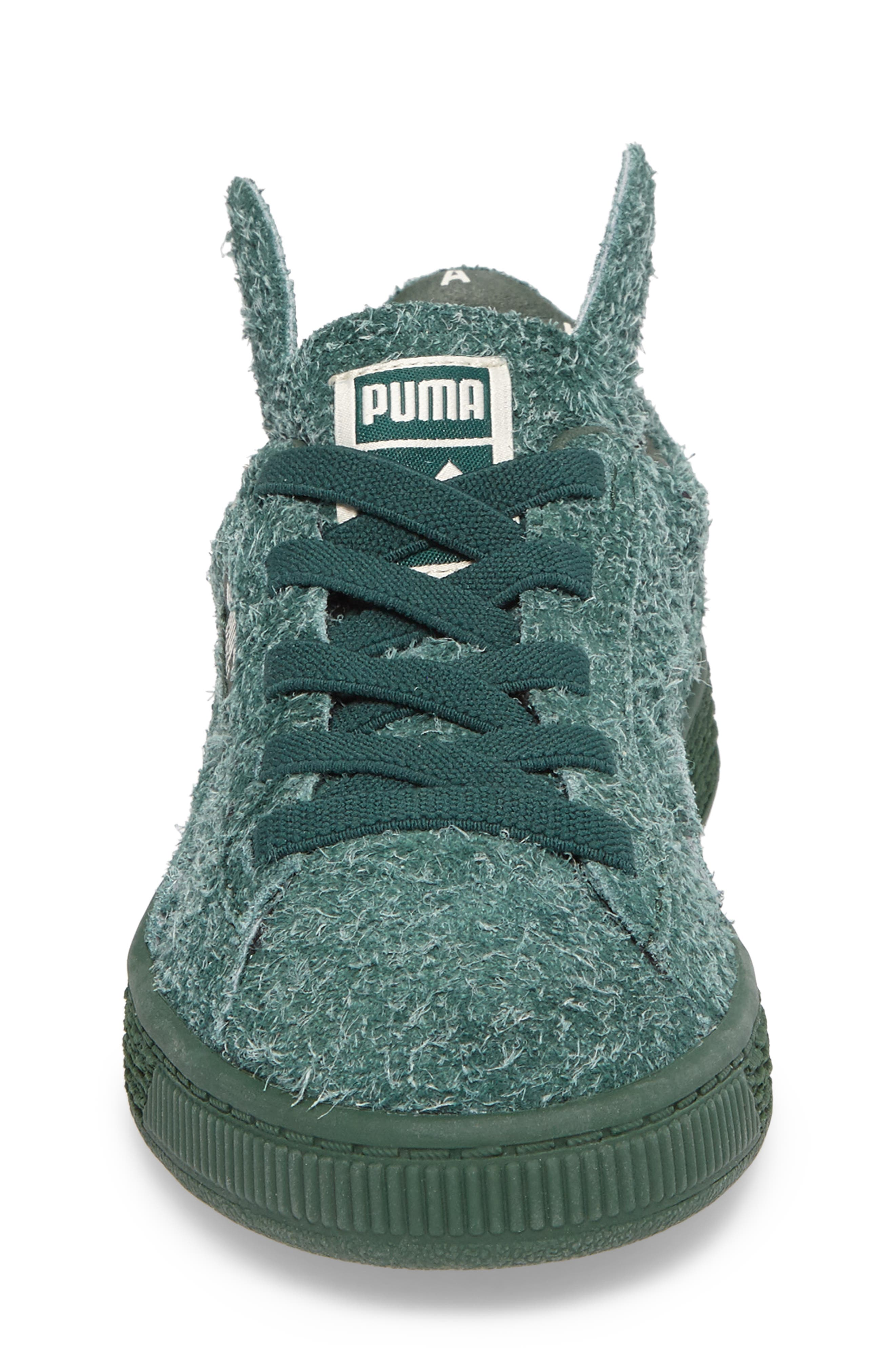 x tinycottons Basket Furry Sneaker,                             Alternate thumbnail 4, color,                             300