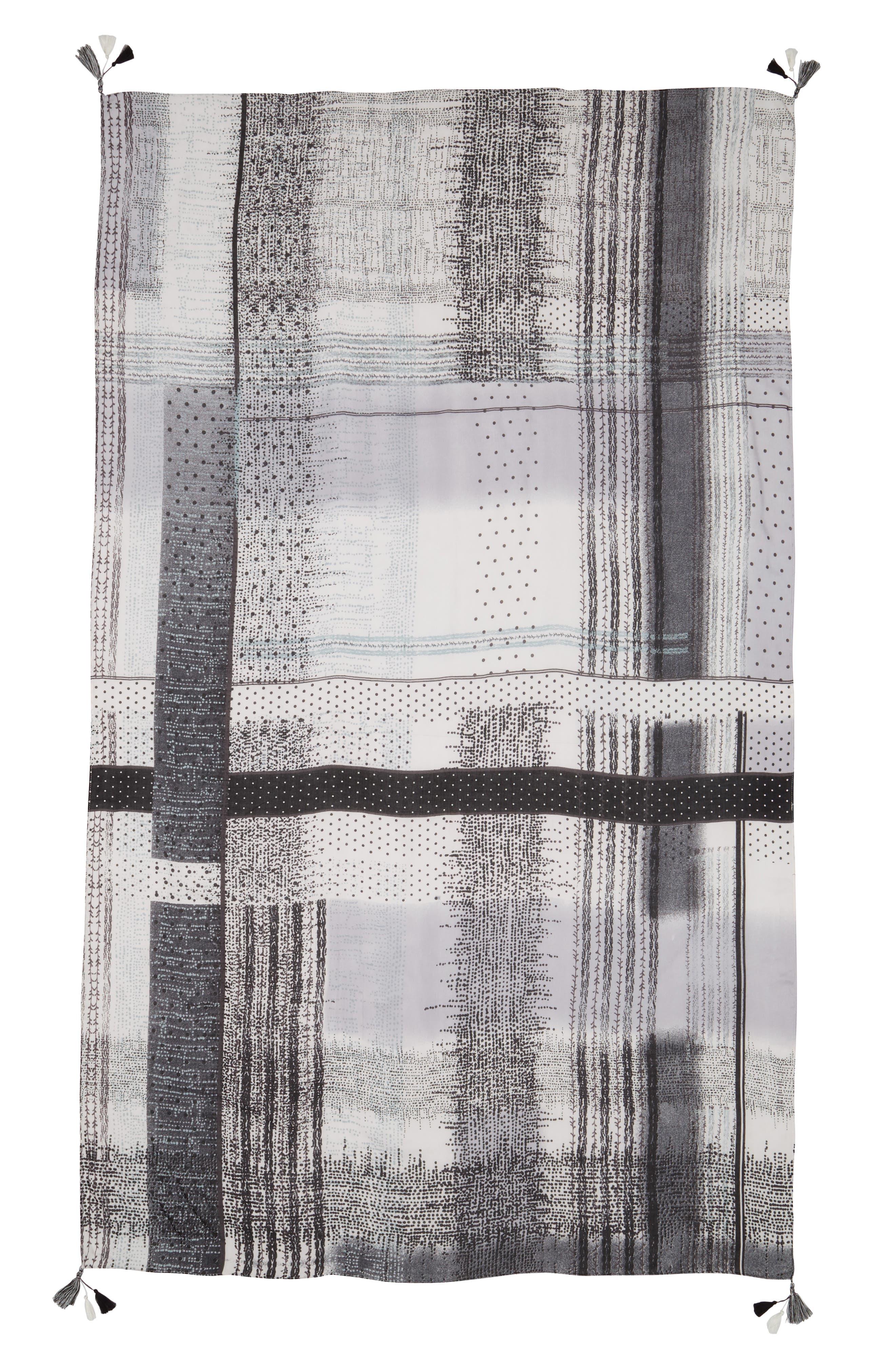 Print Tassel Wrap,                             Alternate thumbnail 2, color,                             001