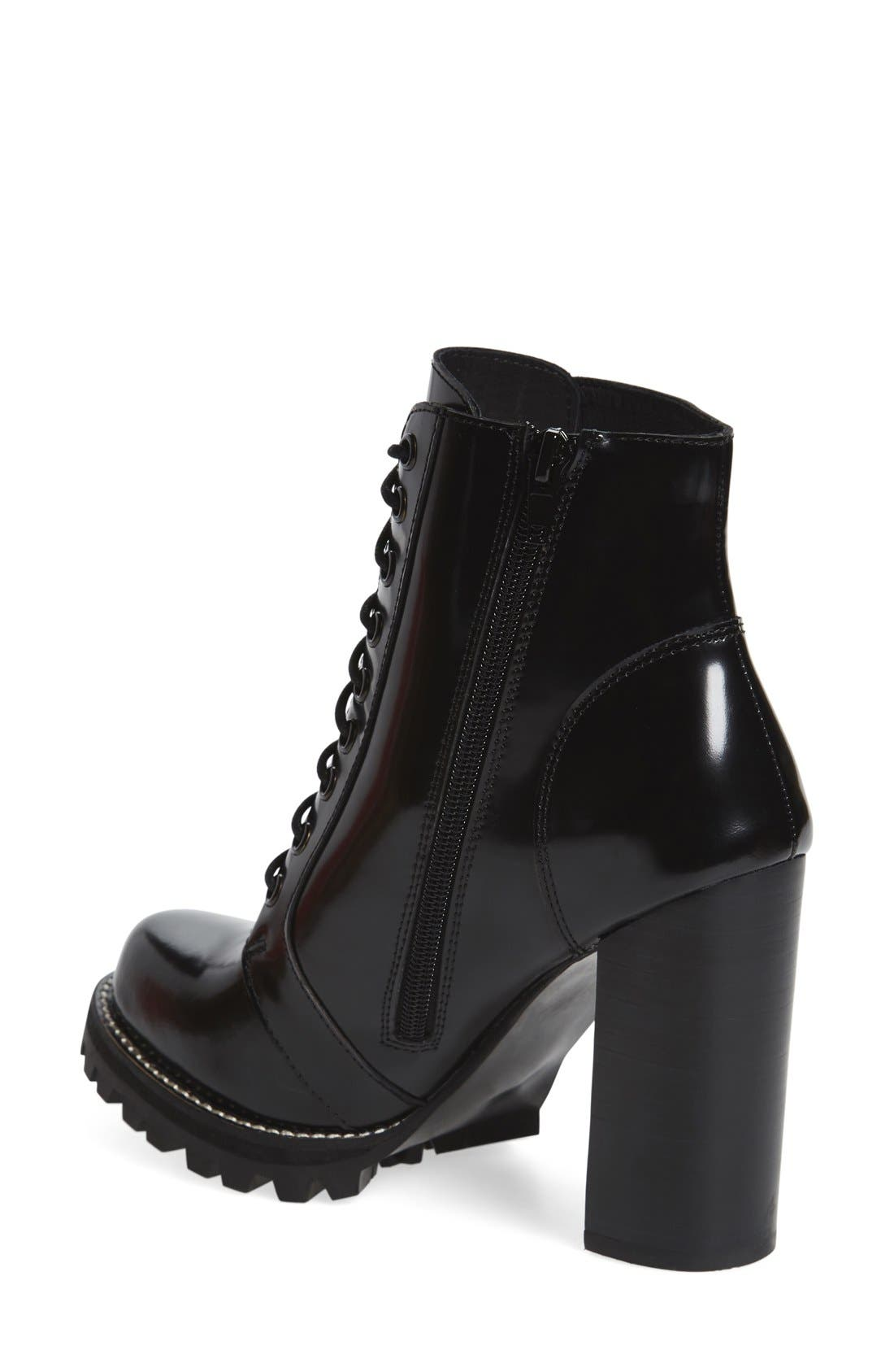 'Legion' High Heel Boot,                             Alternate thumbnail 3, color,                             BLACK BOX LEATHER