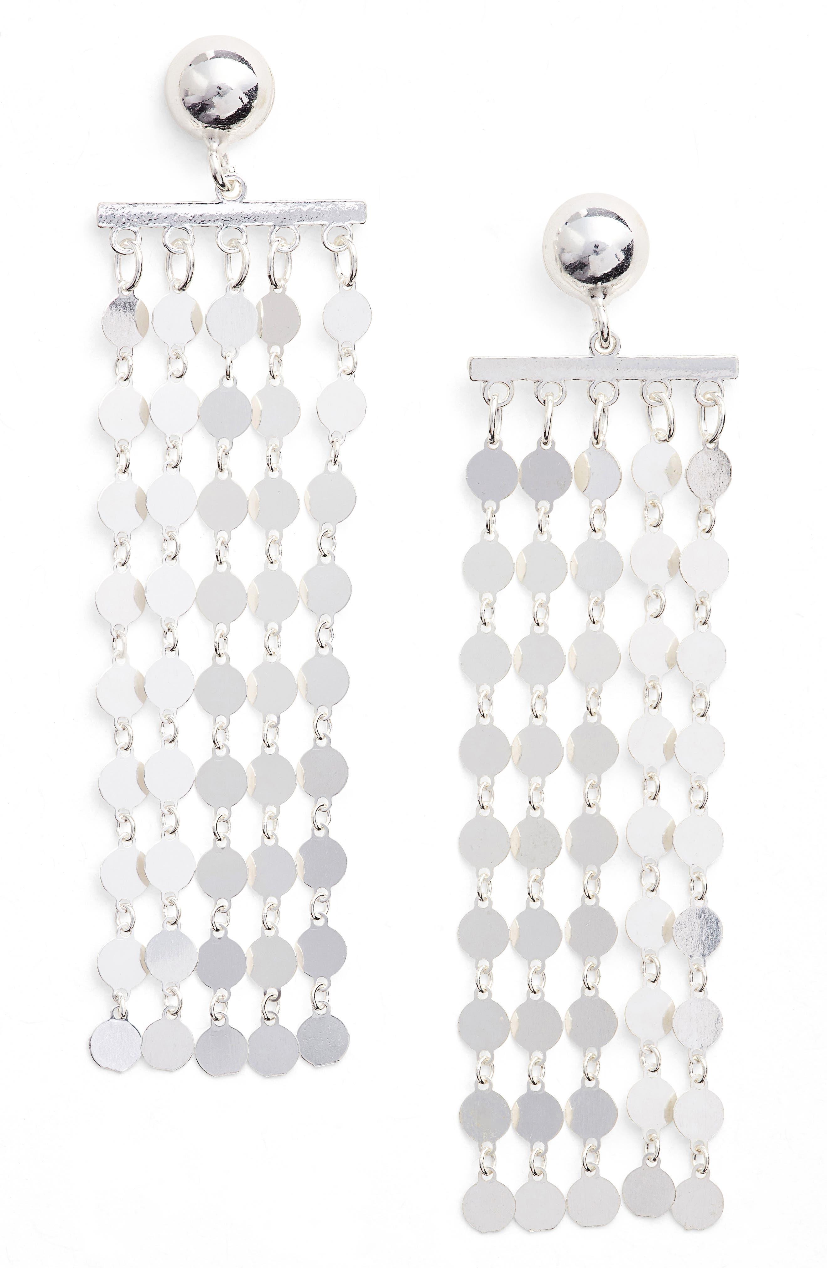 Carmen Fringe Drop Earrings,                             Main thumbnail 1, color,                             040