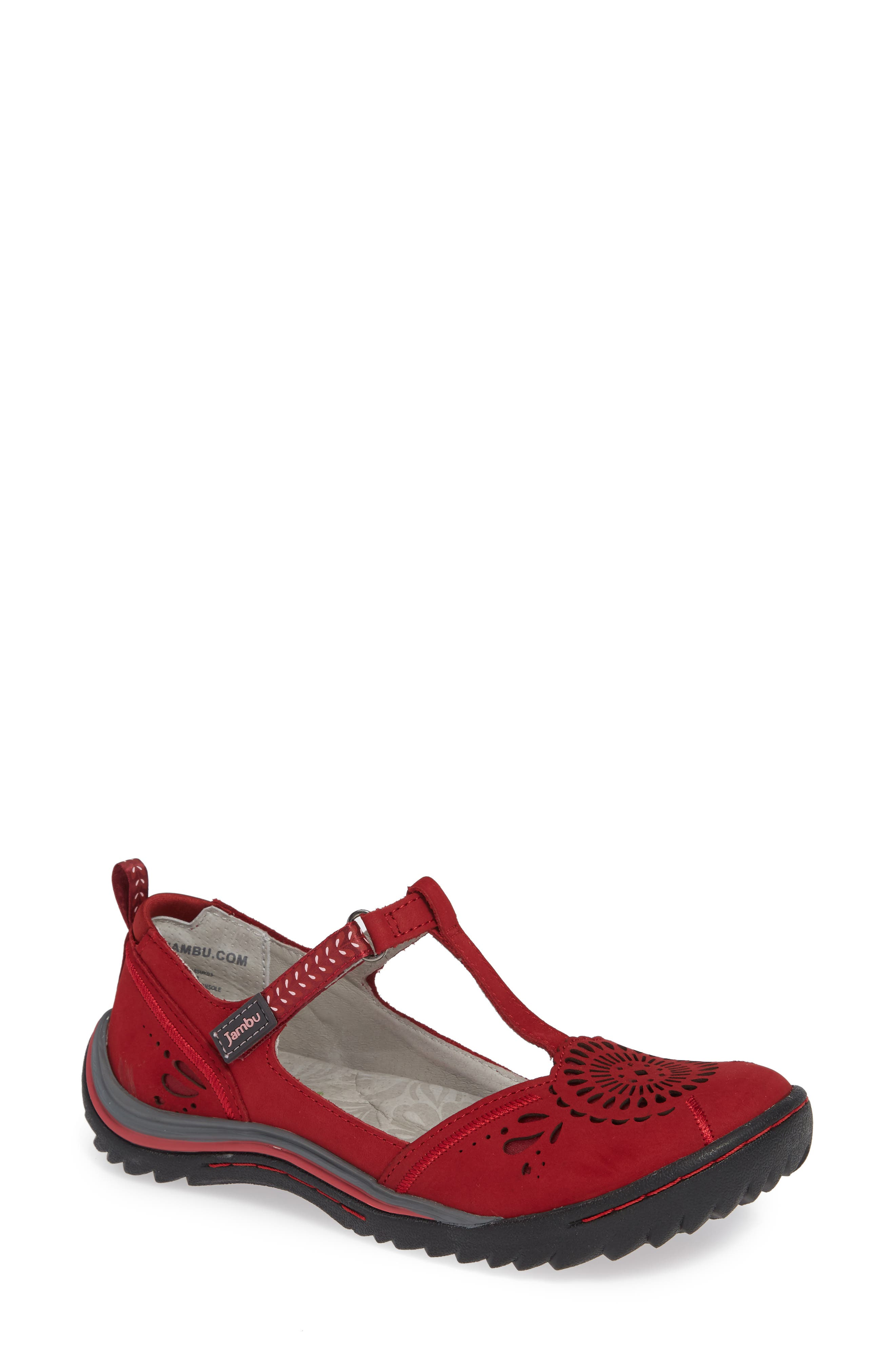 Sunkist Strappy Sneaker,                             Main thumbnail 1, color,                             RED/ PETAL NUBUCK LEATHER