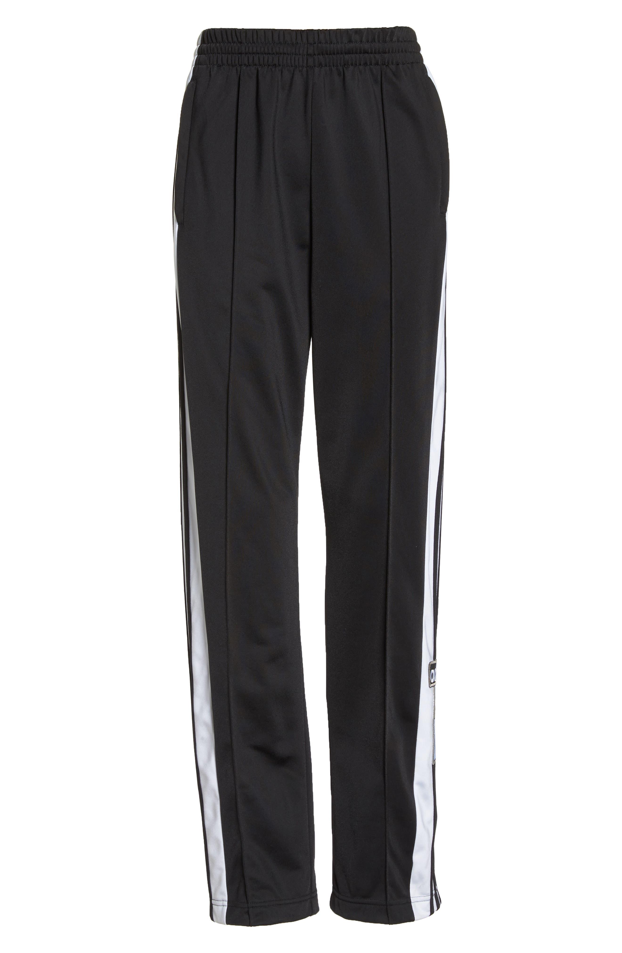 Adibreak Tearaway Track Pants,                             Alternate thumbnail 7, color,                             BLACK/ CARBON