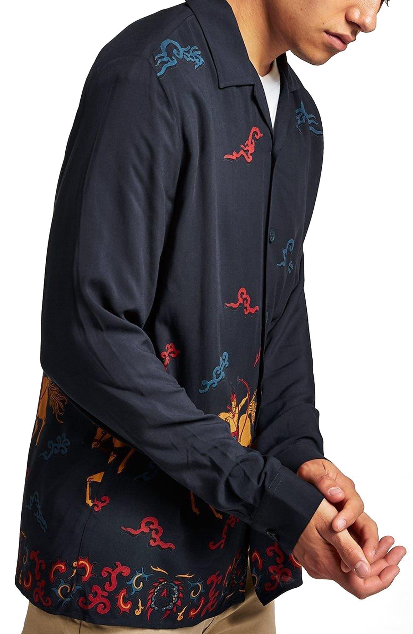 Horse Print Classic Fit Shirt,                         Main,                         color, 411