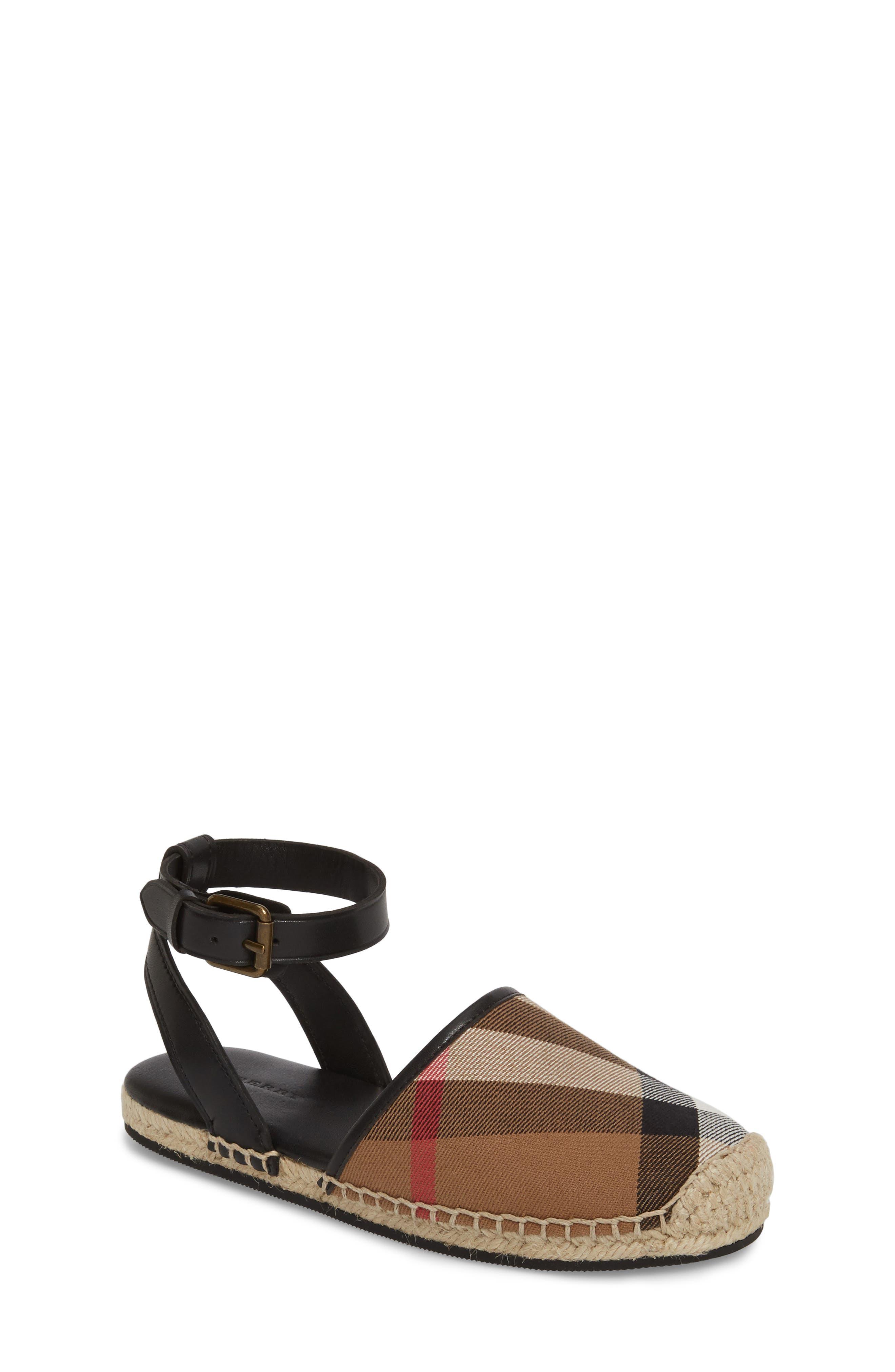 Perth Ankle Strap Sandal,                             Main thumbnail 1, color,                             BLACK