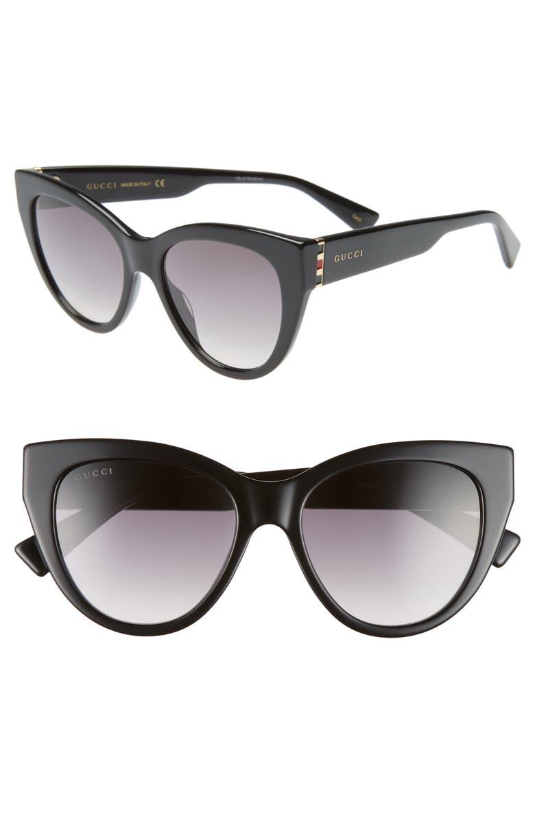9edd5279f96 Gucci 53mm Gradient Cat Eye Sunglasses
