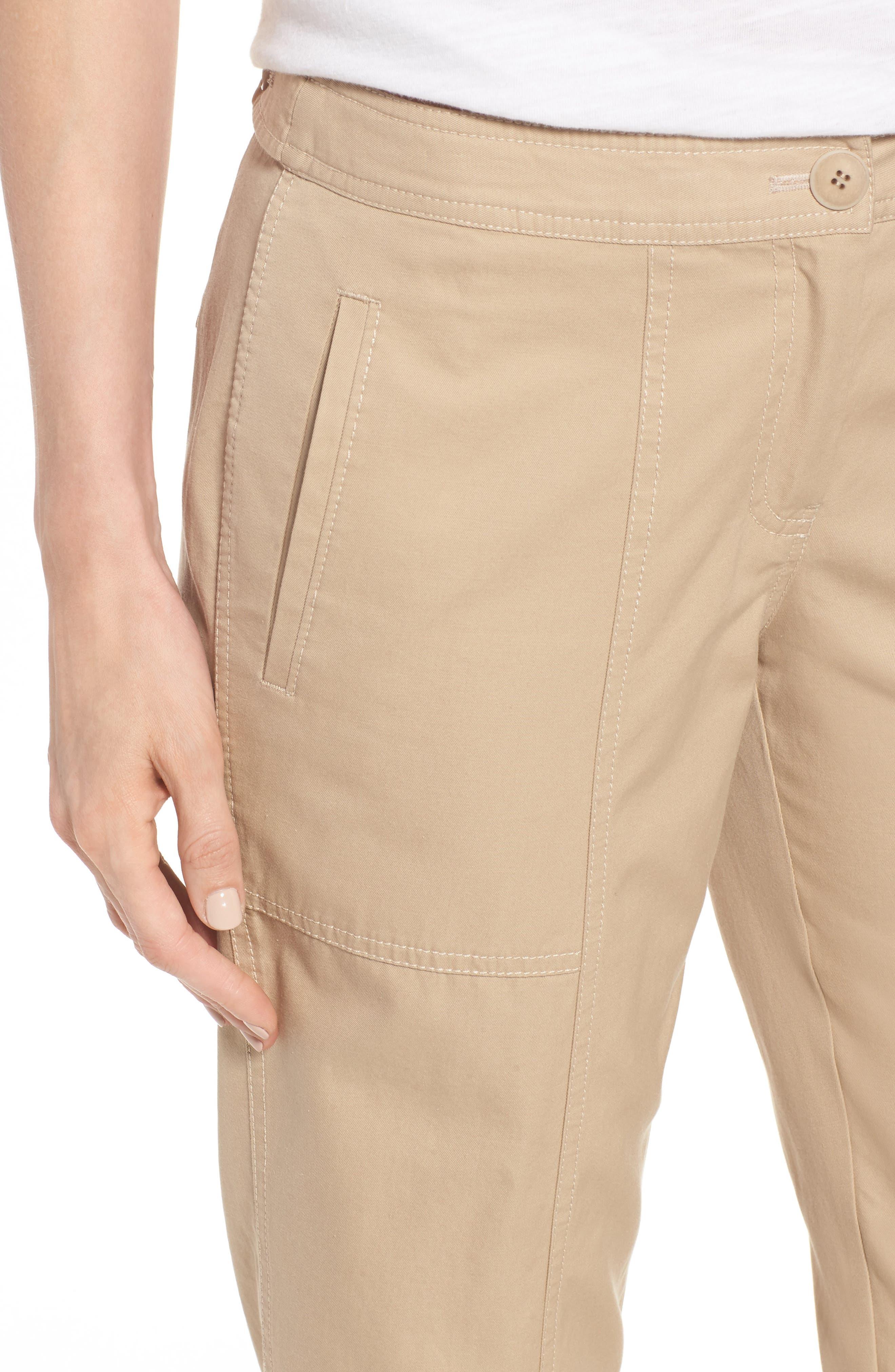 Wide Leg Crop Pants,                             Alternate thumbnail 4, color,                             270