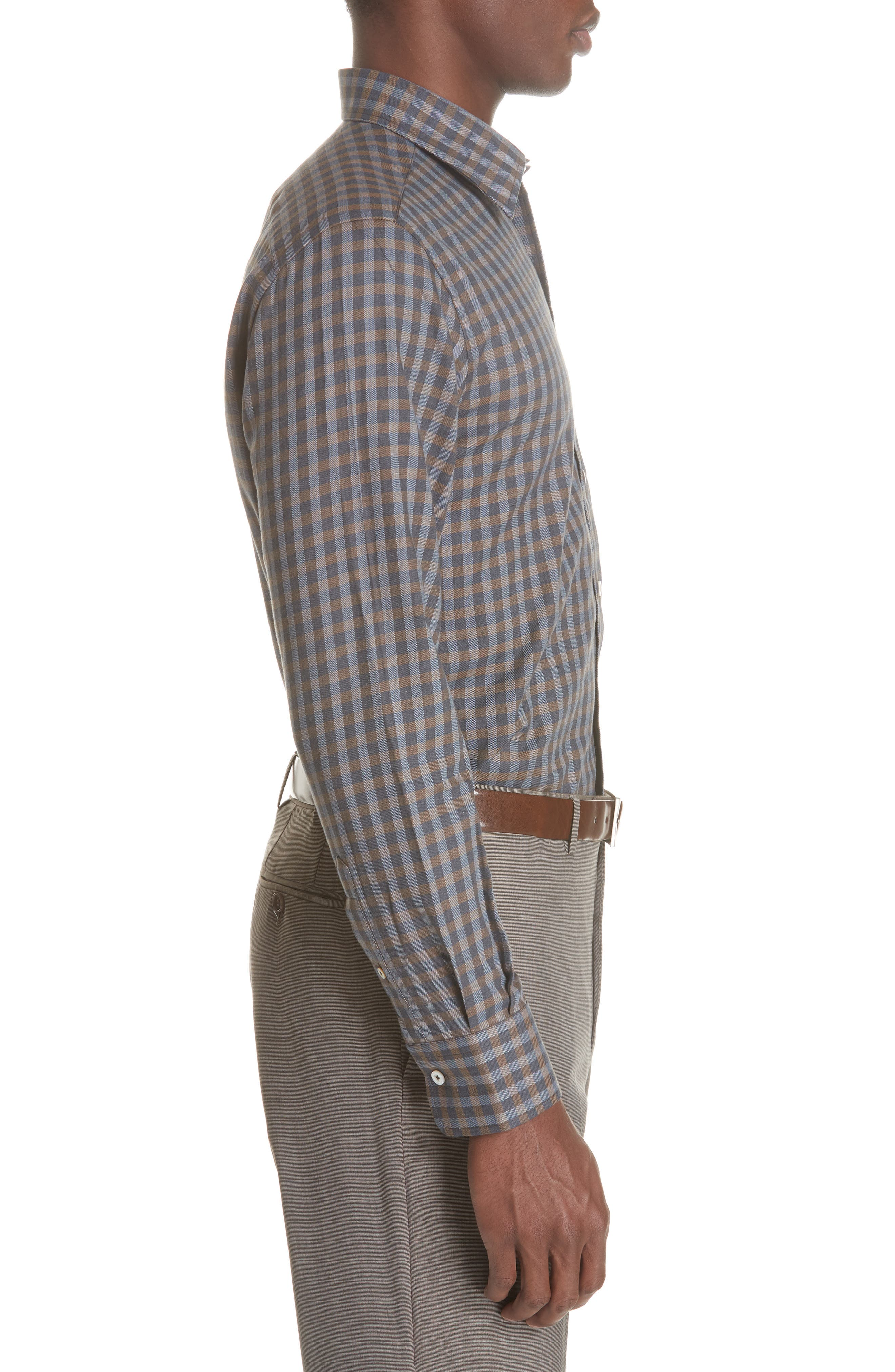 Regular Fit Check Sport Shirt,                             Alternate thumbnail 4, color,                             200