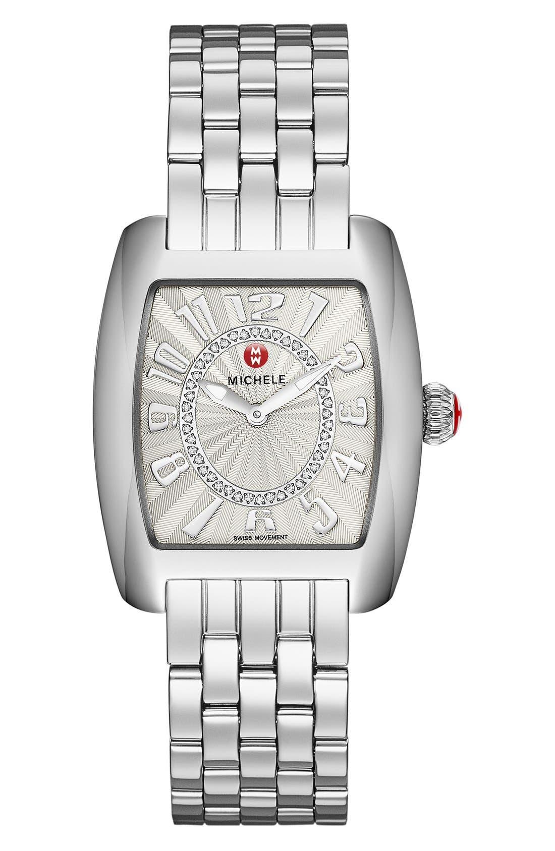 Urban Mini Diamond Dial Watch Case, 29mm x 30mm,                             Alternate thumbnail 2, color,                             SILVER/ SILVER