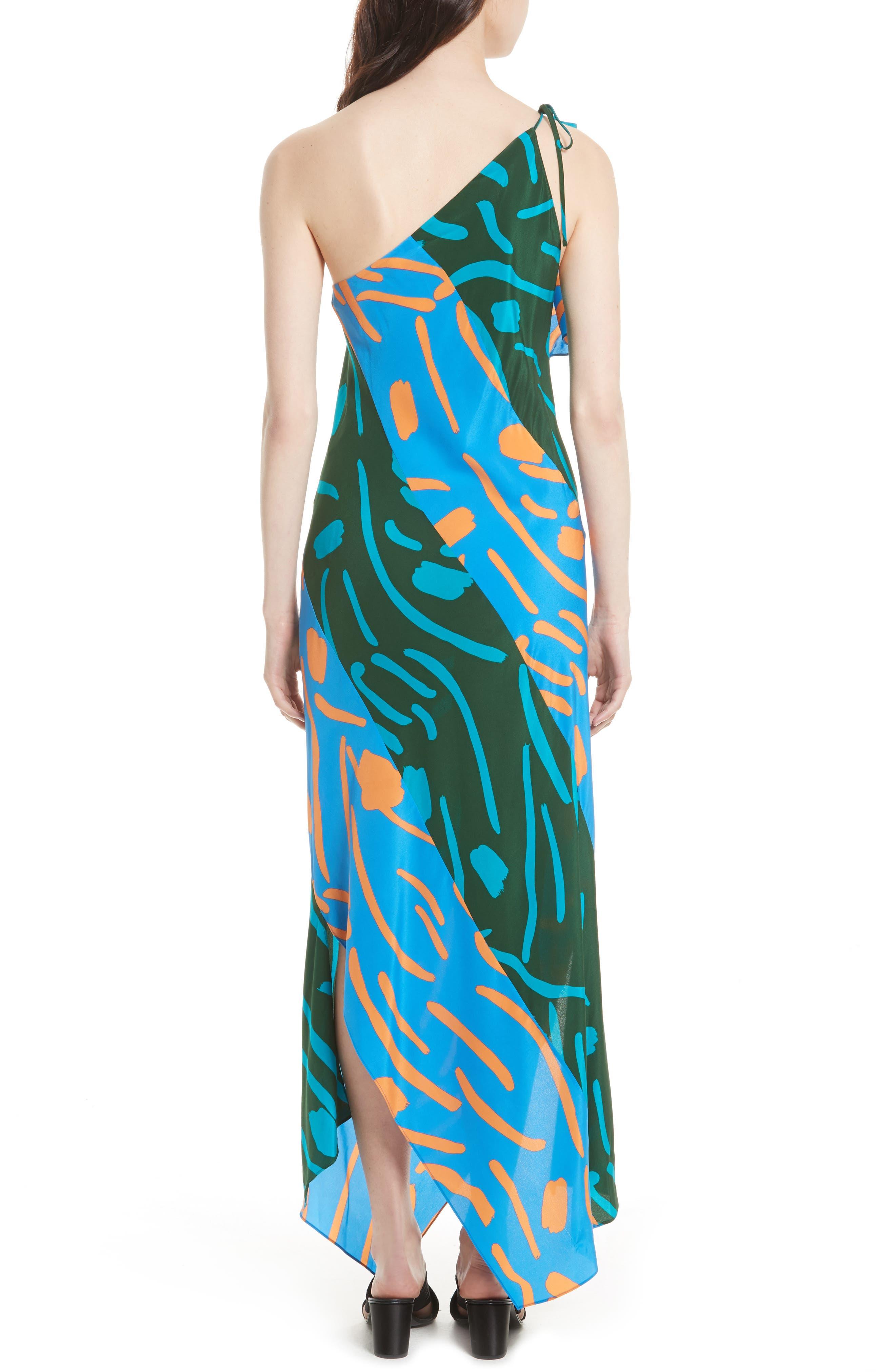 Diane von Furstenberg Silk Maxi Dress,                             Alternate thumbnail 2, color,                             440