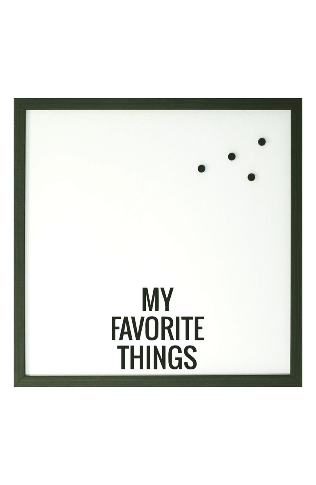 'My Favorite Things' Magnet Board,                         Main,                         color, 001