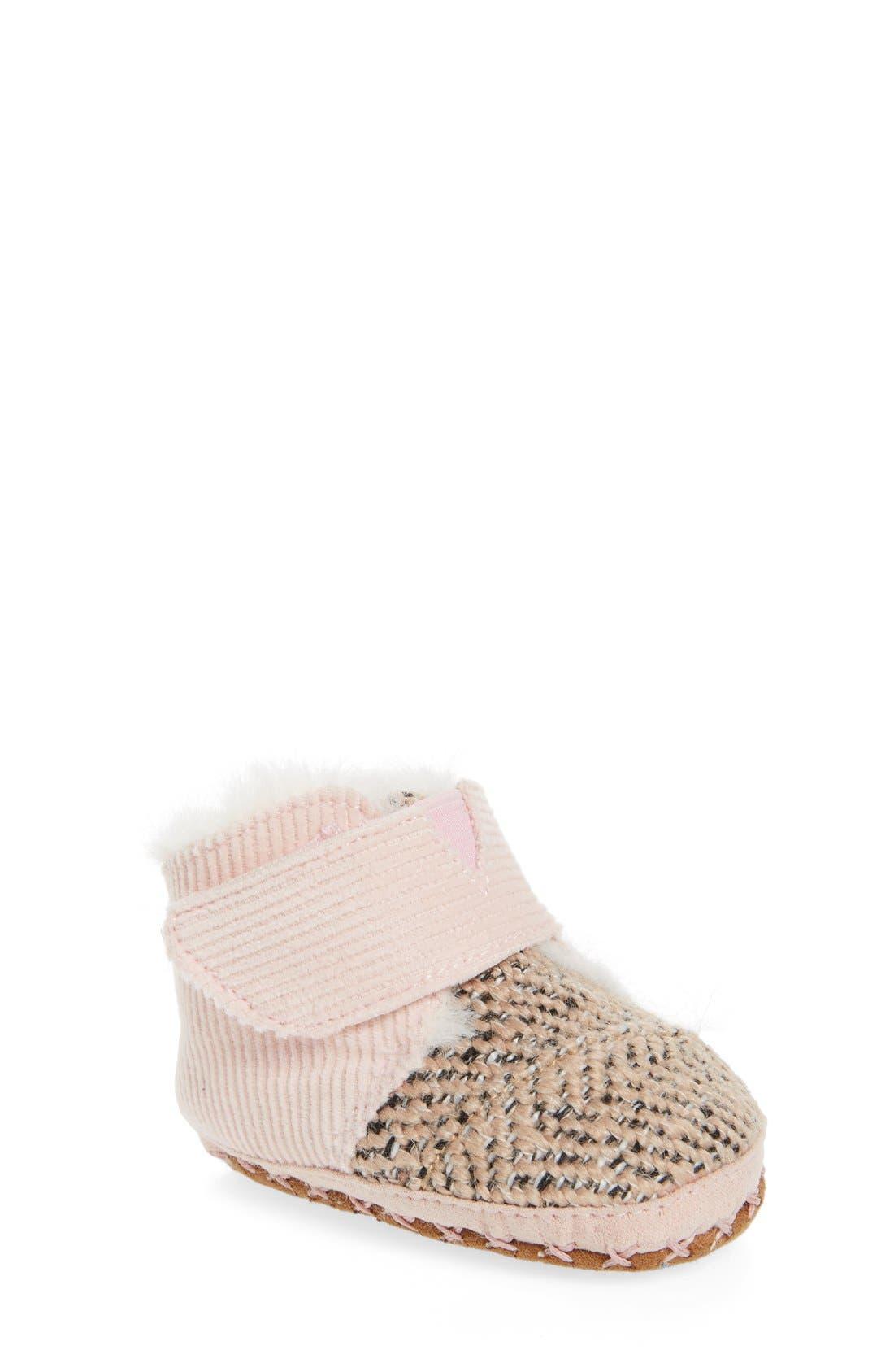 Cuna Crib Shoe,                             Main thumbnail 1, color,                             PINK