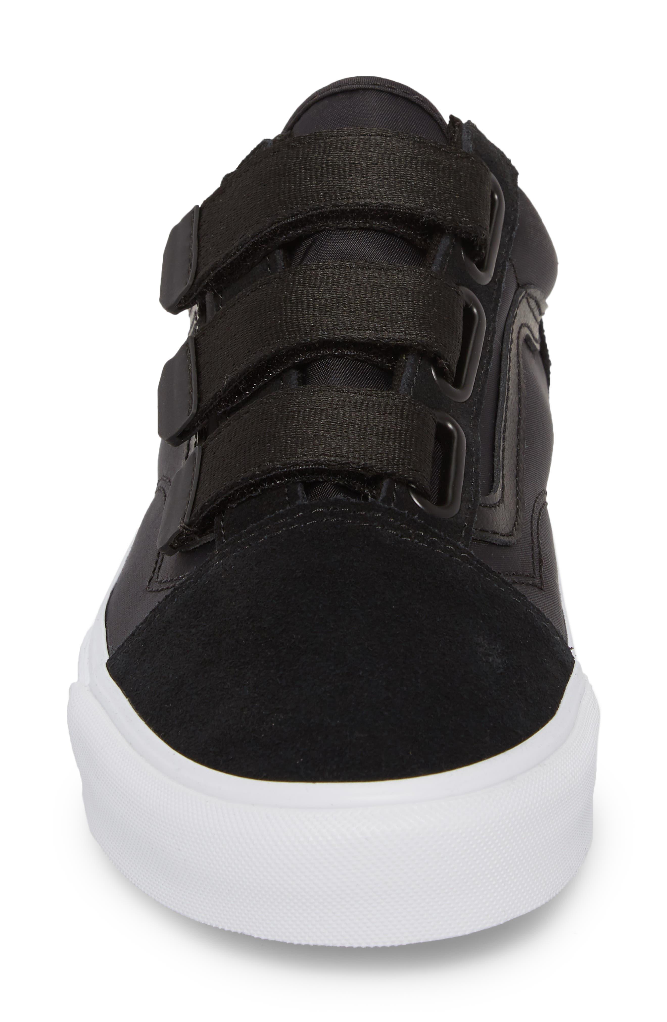 Old School V-Sneaker,                             Alternate thumbnail 4, color,                             001