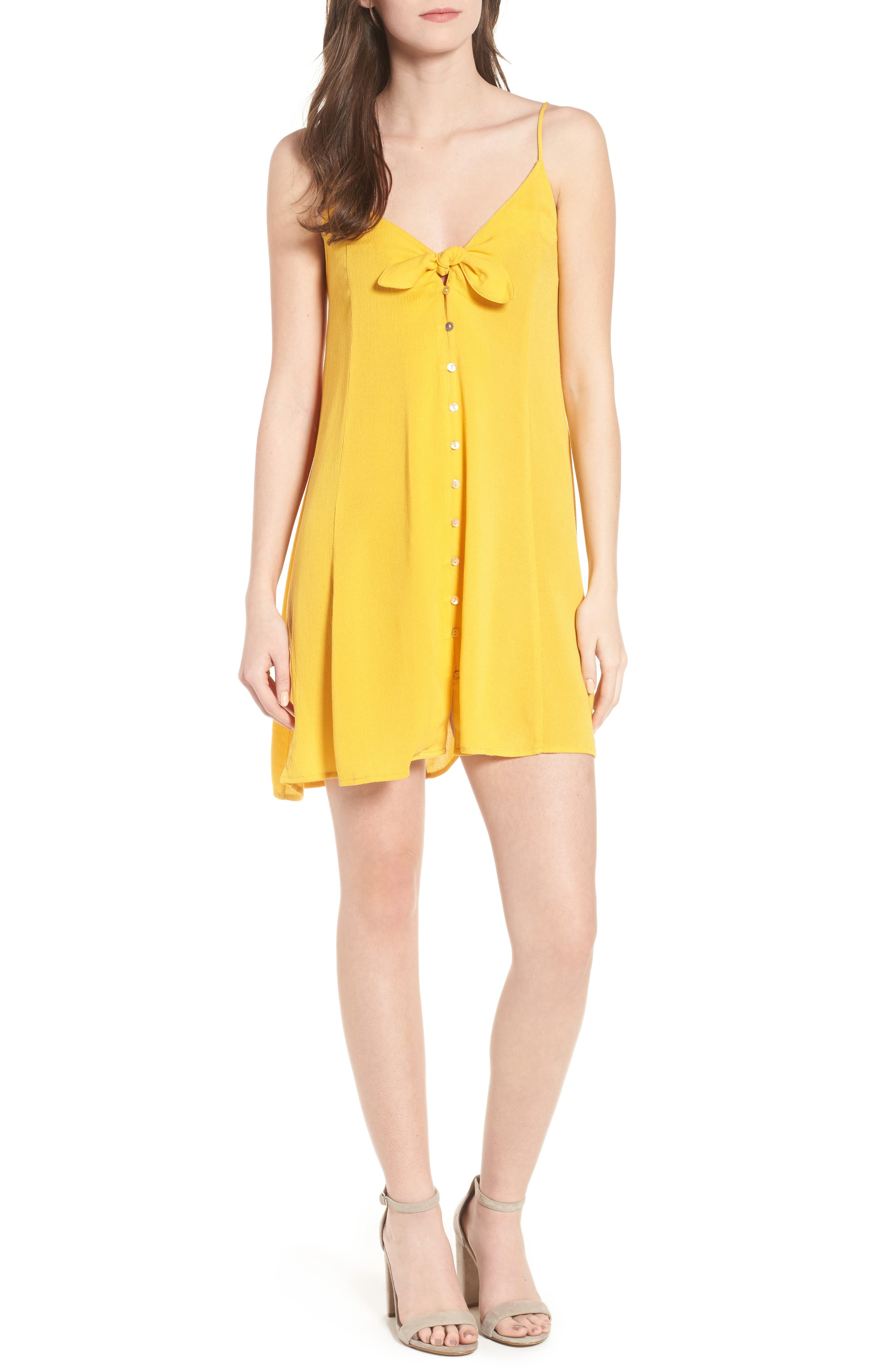 Shine For You Knot Front Dress,                         Main,                         color, 701