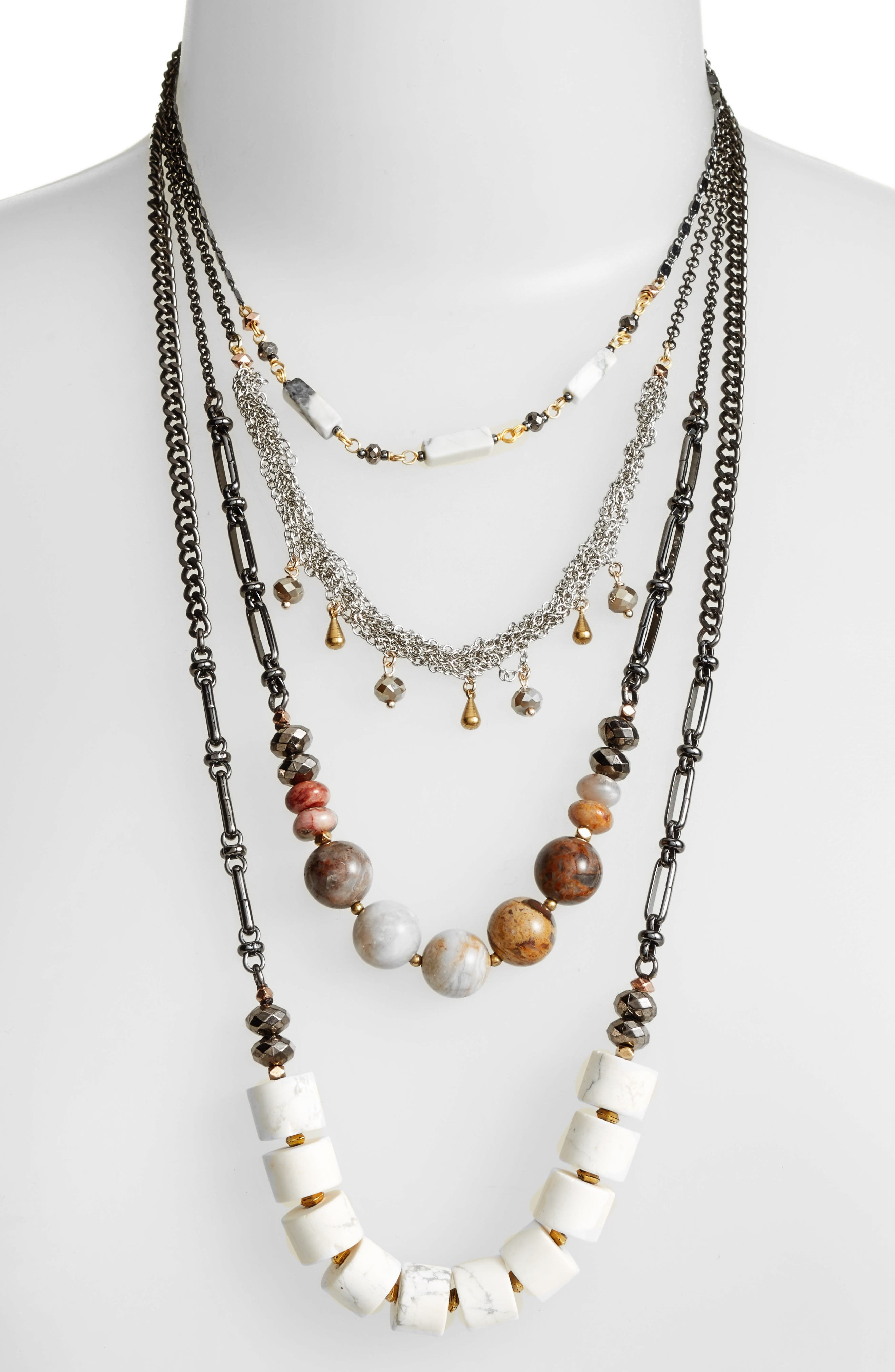 Multistrand Necklace,                             Alternate thumbnail 2, color,