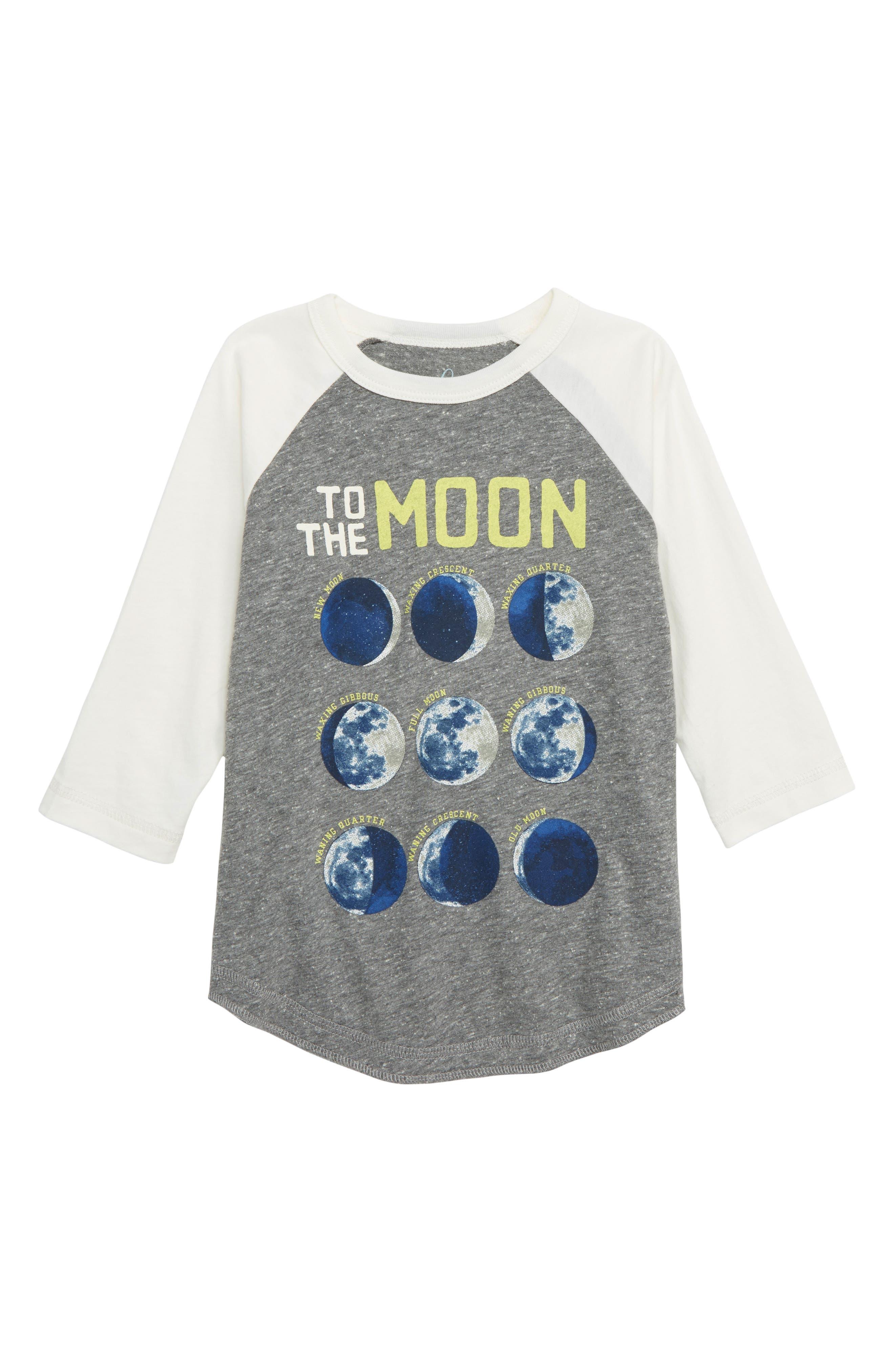 PEEK AREN'T YOU CURIOUS Moon & Back Glow in the Dark Raglan T-Shirt, Main, color, 020