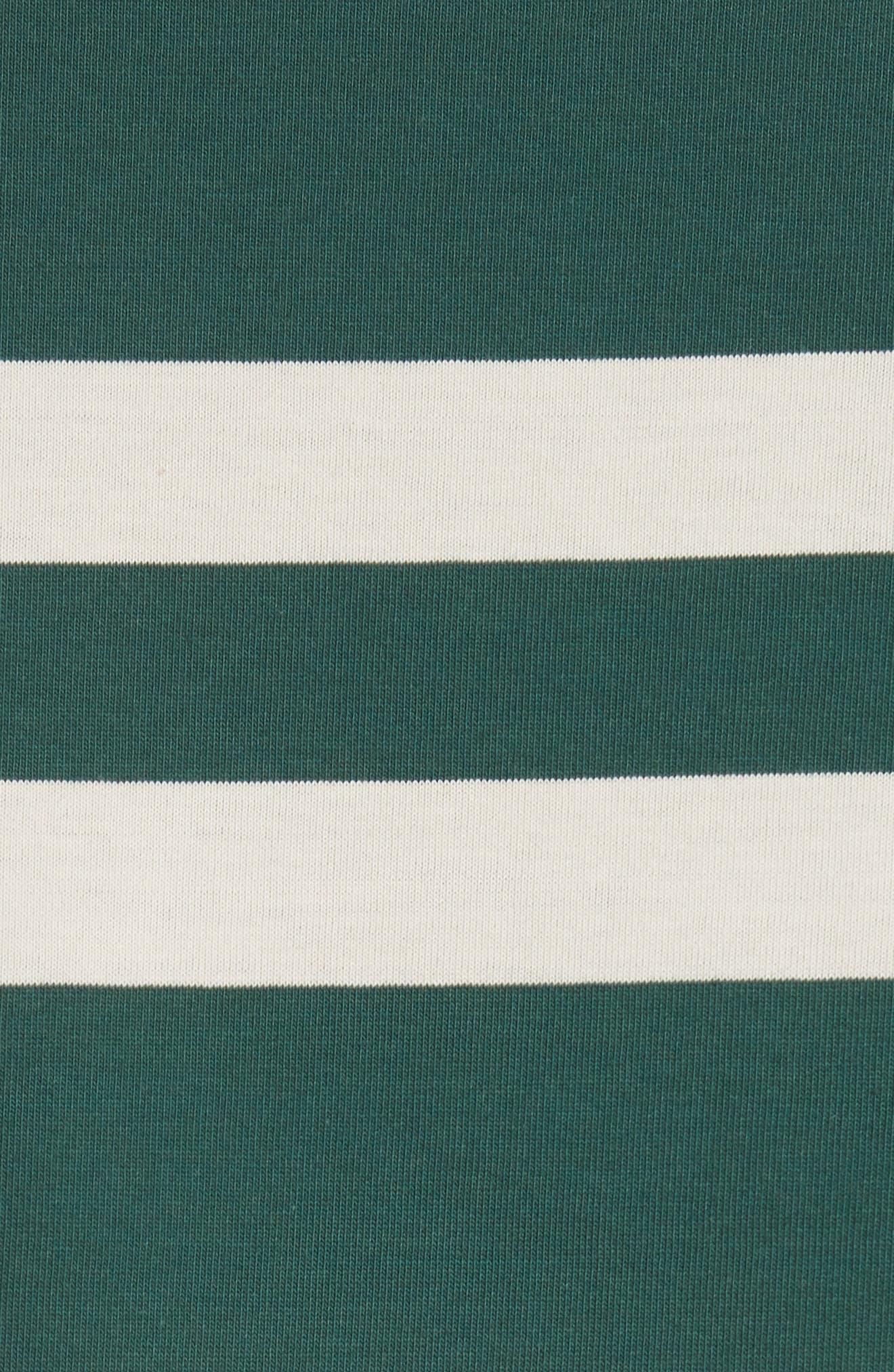 Crawley Stripe T-Shirt,                             Alternate thumbnail 5, color,                             OFF WHITE/ PINE GREEN