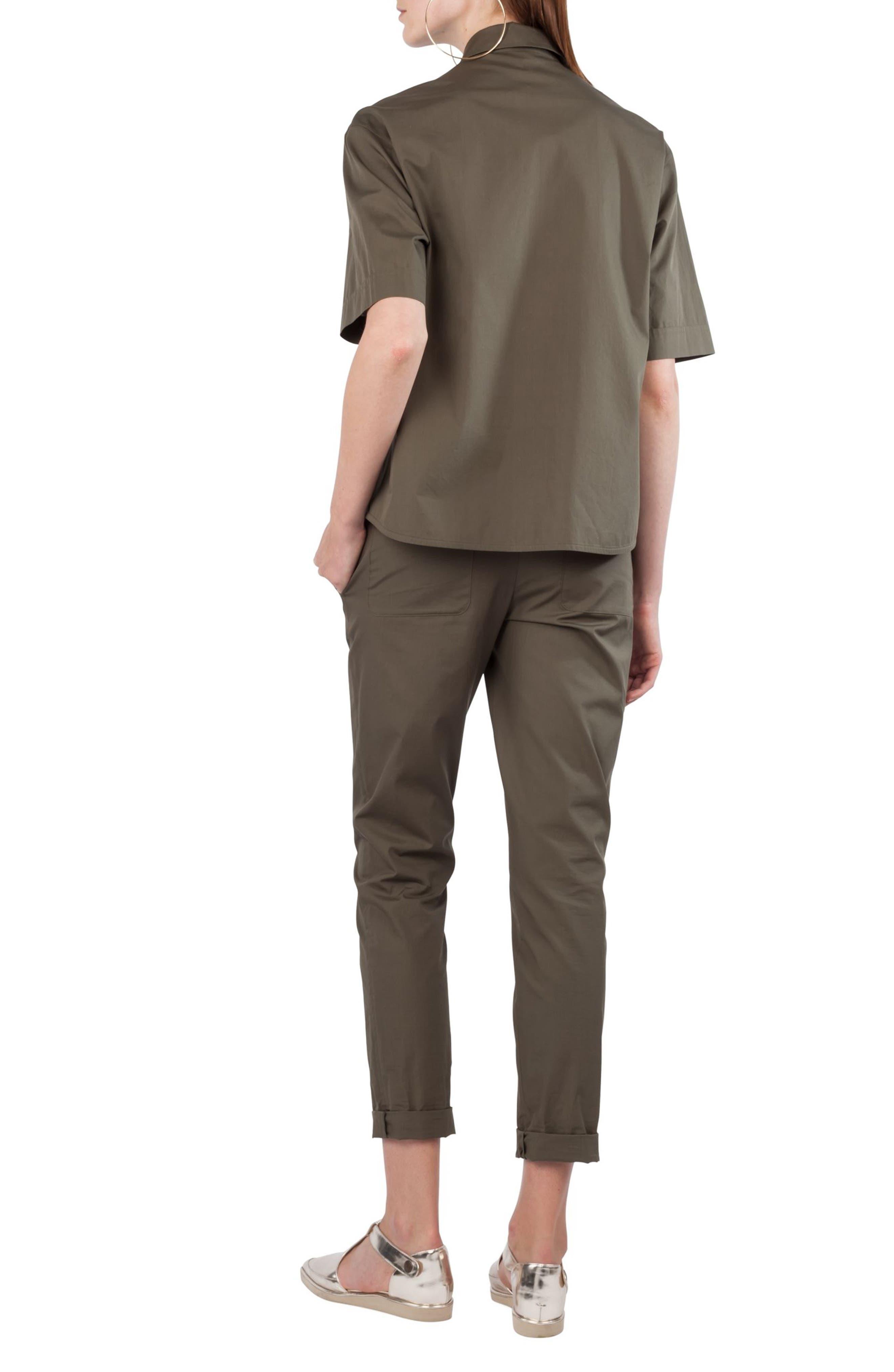 Kent Collar Cotton Shirt,                             Alternate thumbnail 2, color,