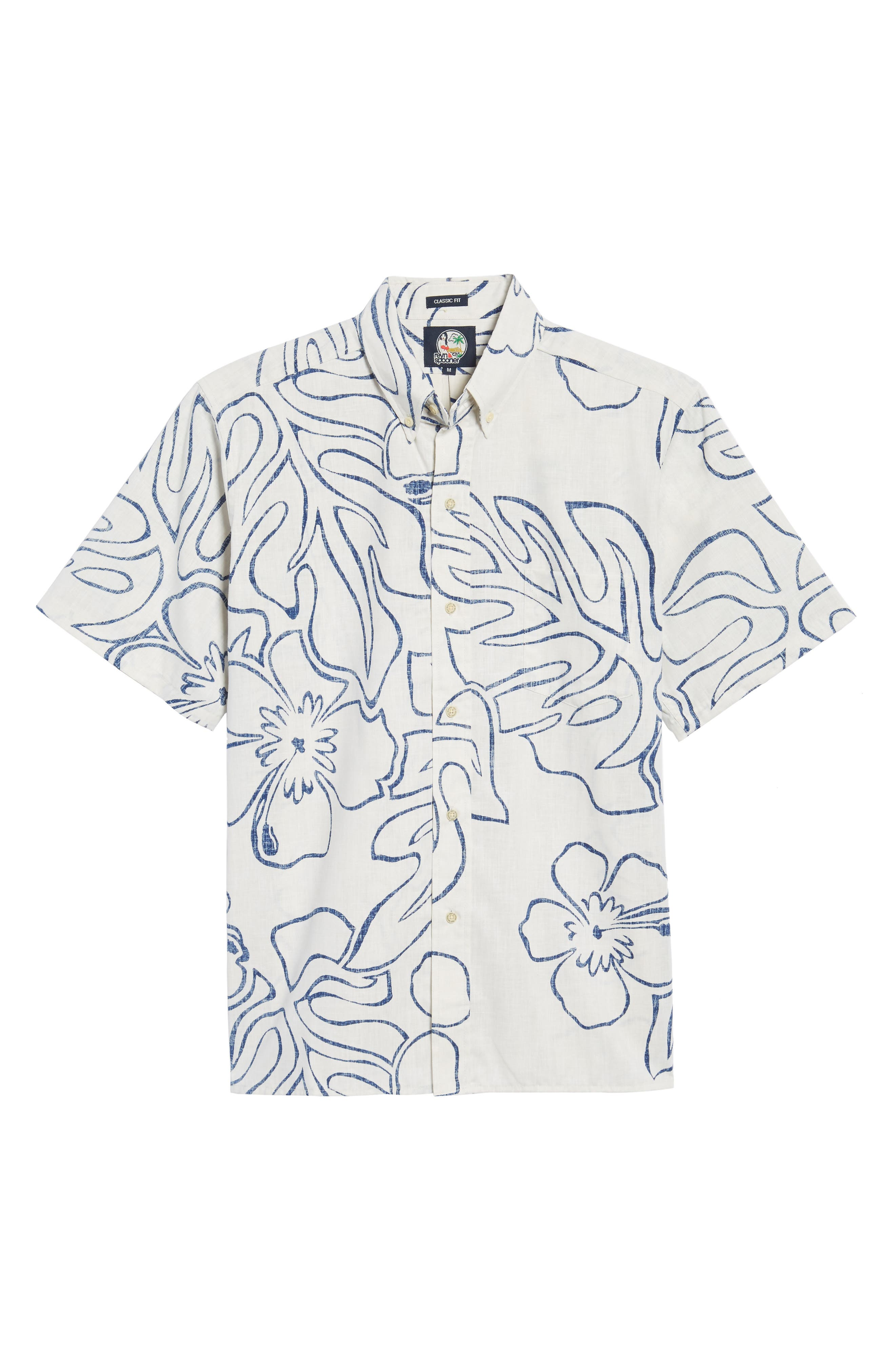 Monstera Ink Classic Fit Sport Shirt,                             Alternate thumbnail 6, color,                             104