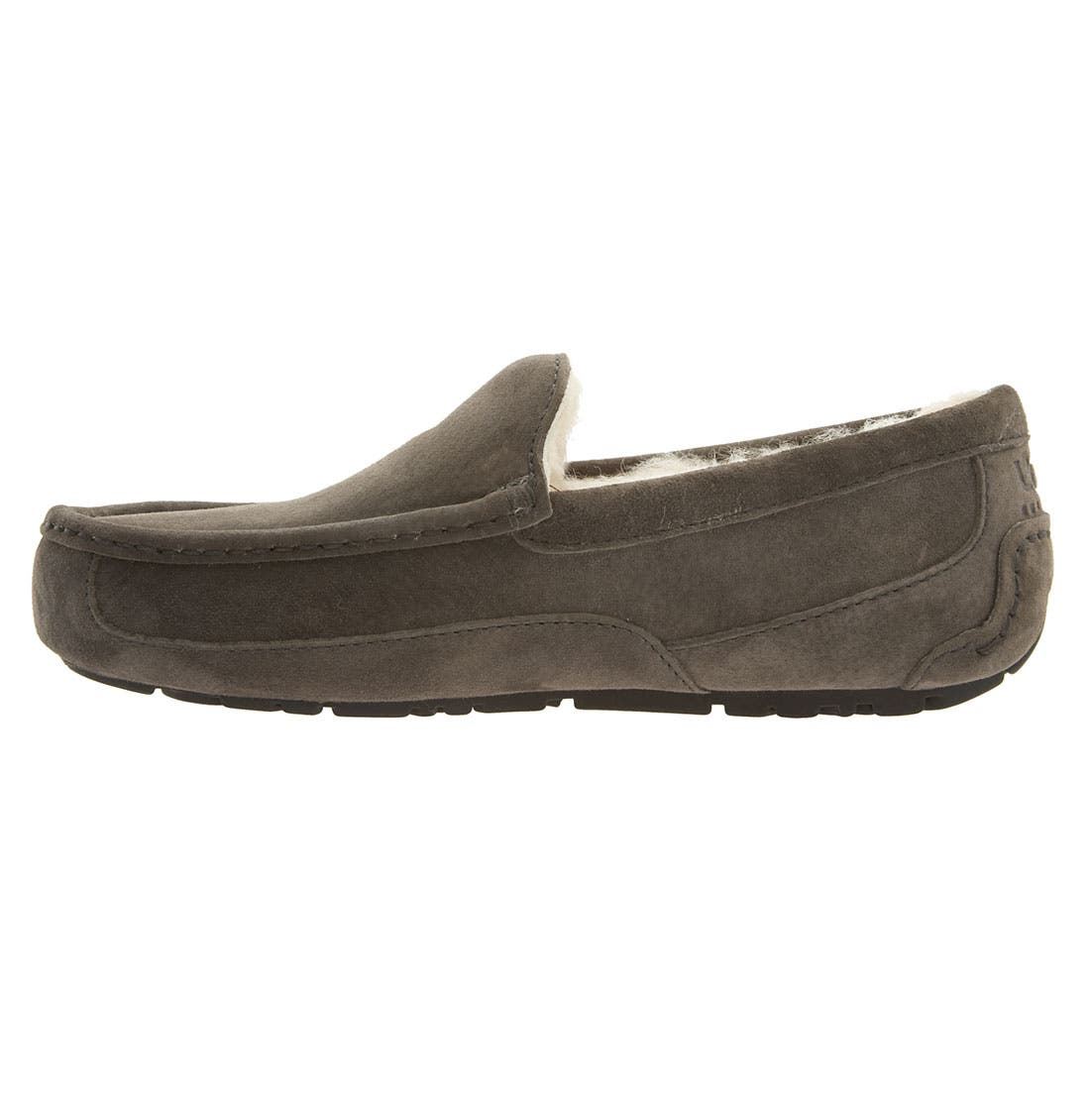 Ascot Suede Slipper,                             Alternate thumbnail 7, color,                             CHARCOAL
