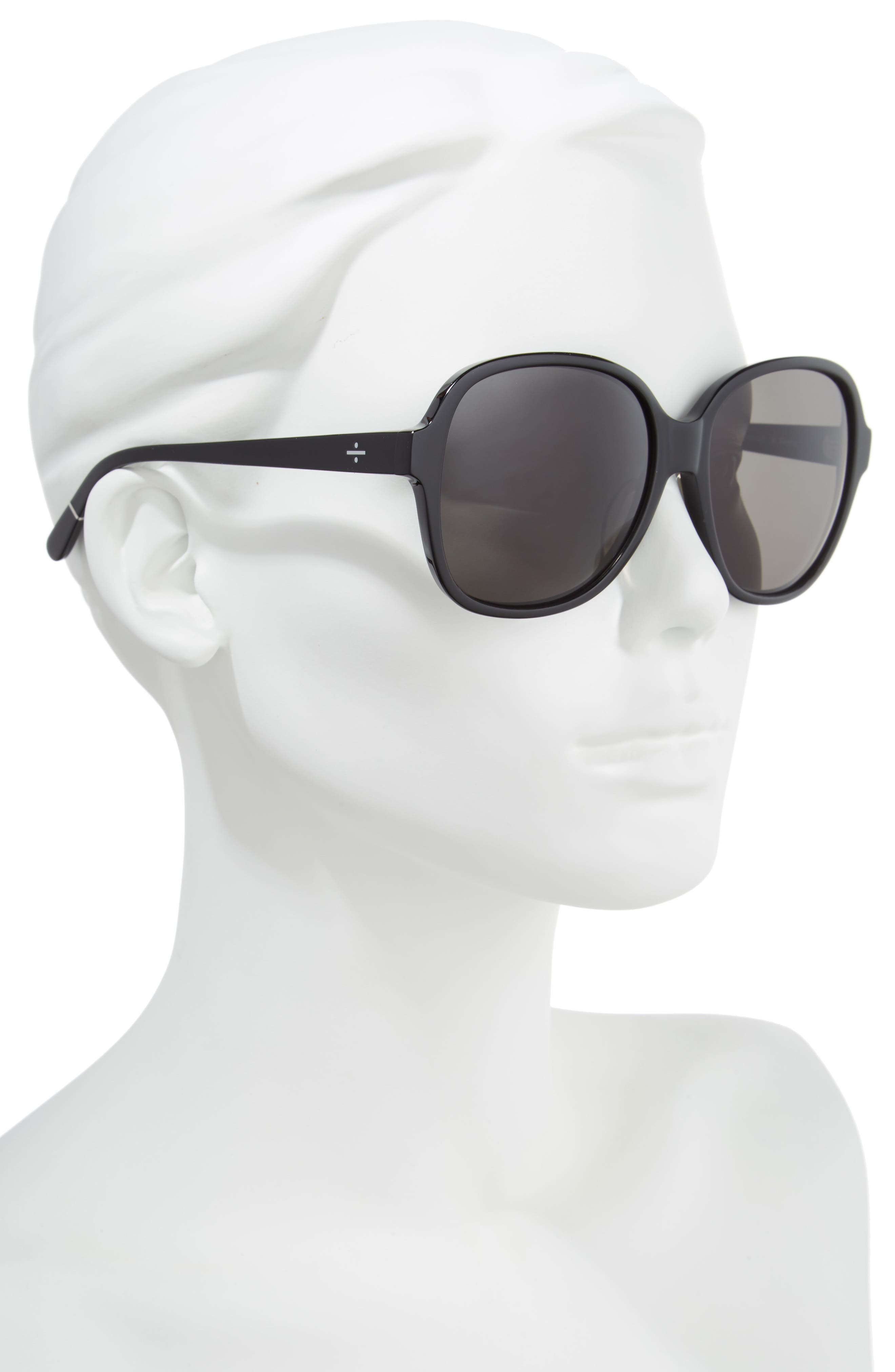 BLANC & ECLARE Beijing 61mm Polarized Sunglasses,                             Alternate thumbnail 2, color,                             BLACK