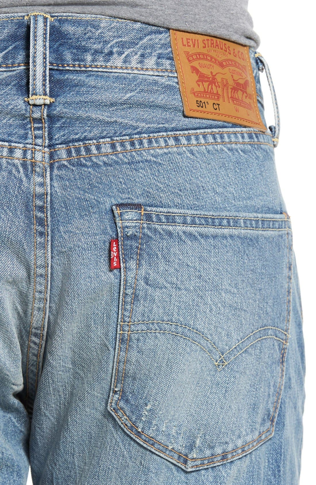 501<sup>™</sup> CT Custom Tapered Fit Jeans,                             Alternate thumbnail 5, color,                             420
