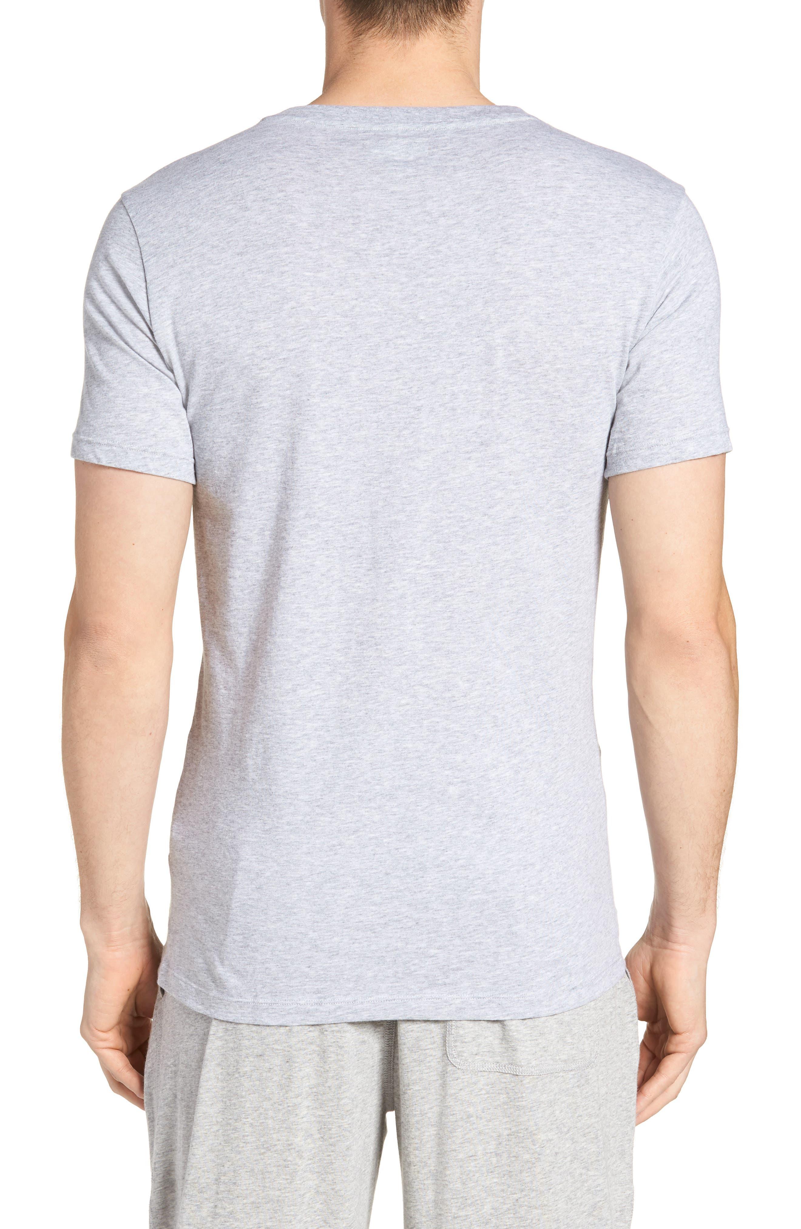 LACOSTE,                             3-Pack Slim Fit V-Neck T-Shirts,                             Alternate thumbnail 2, color,                             BLACK/ GREY/ WHITE