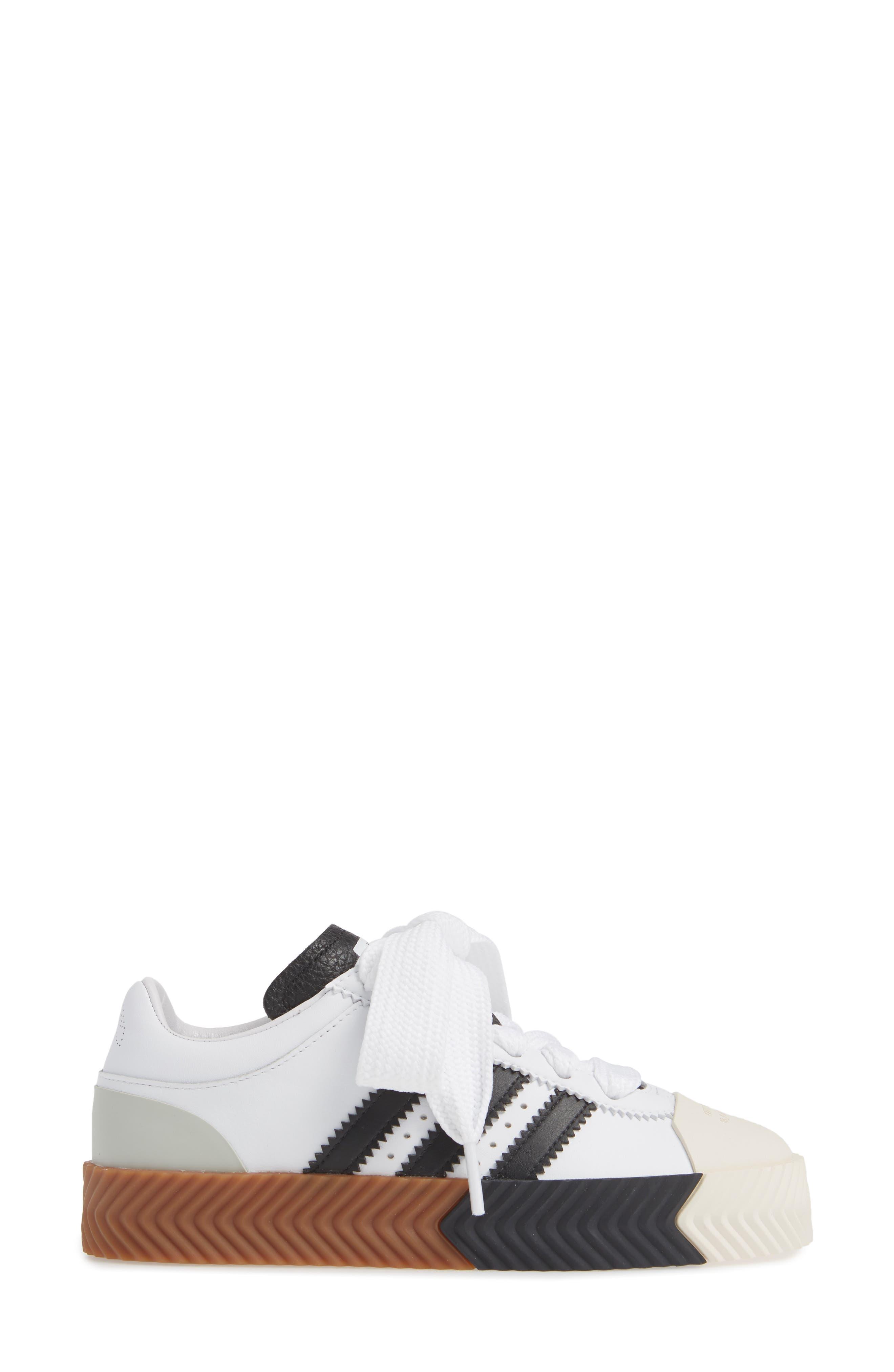 Skate Super Sneaker,                             Alternate thumbnail 3, color,                             WHITE/ BLACK/ BROWN