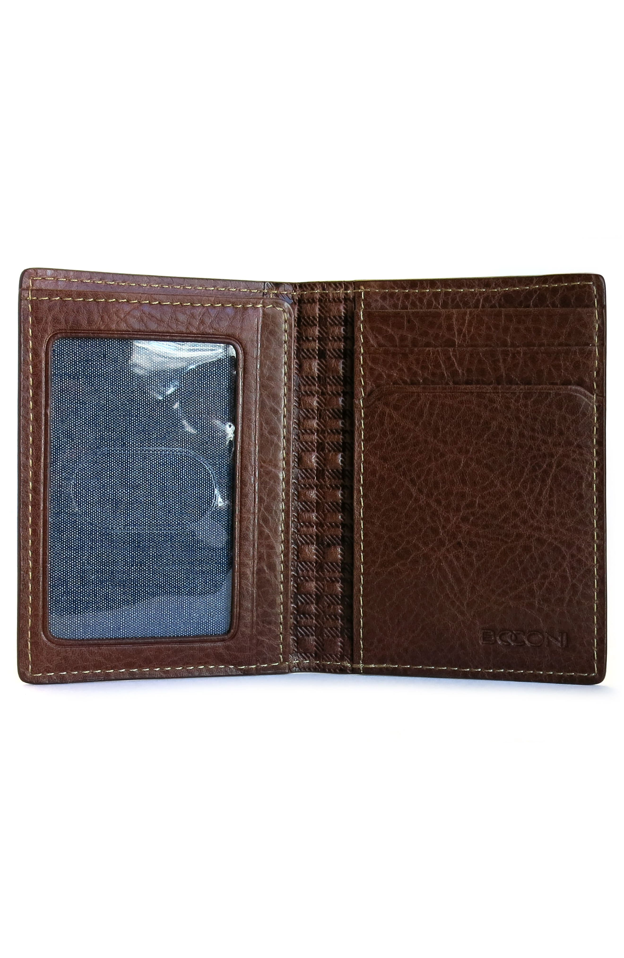 Caleb Leather Folding Card Case,                             Alternate thumbnail 2, color,                             CHESTNUT