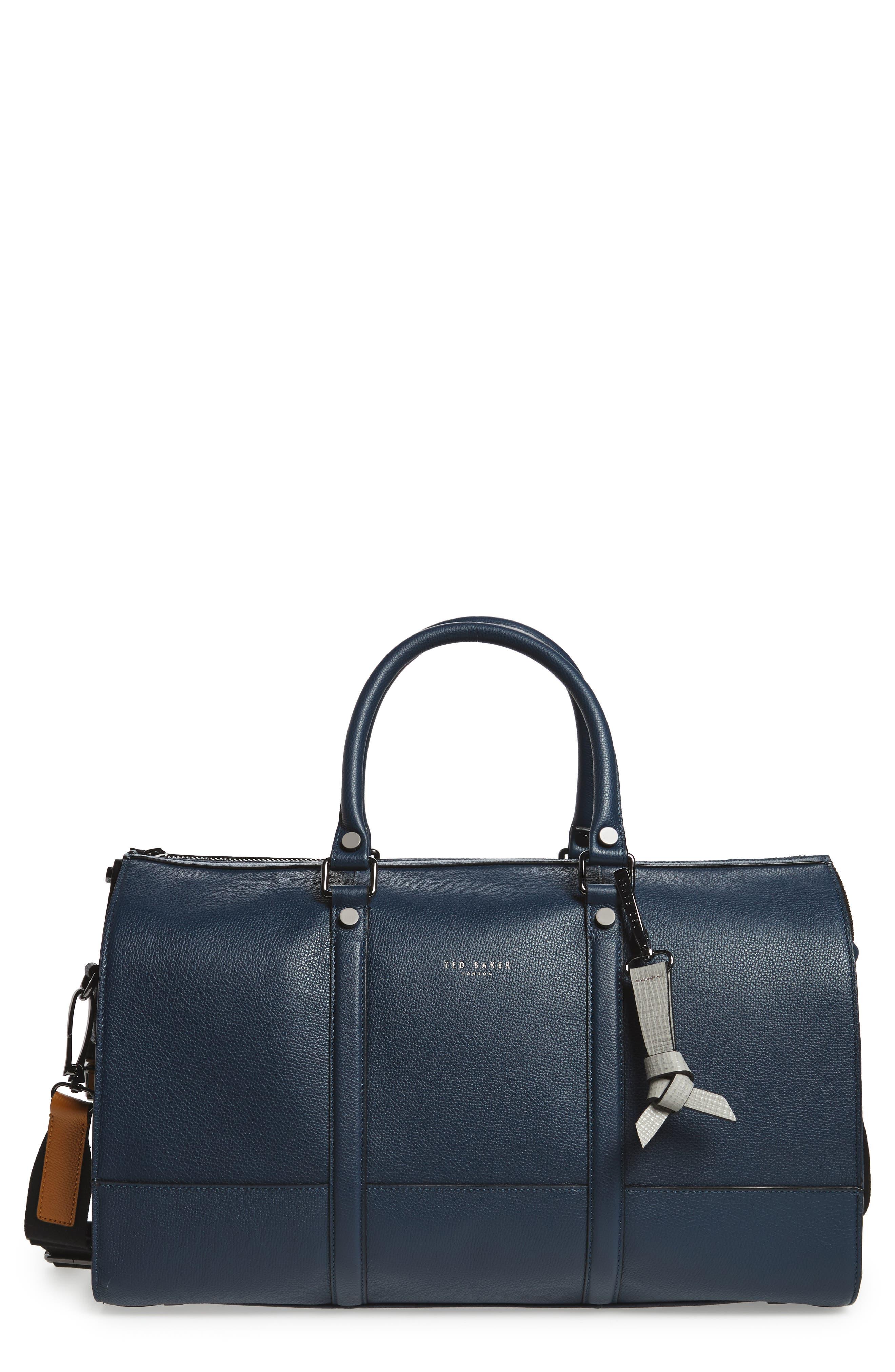Leather Duffel Bag,                             Main thumbnail 2, color,