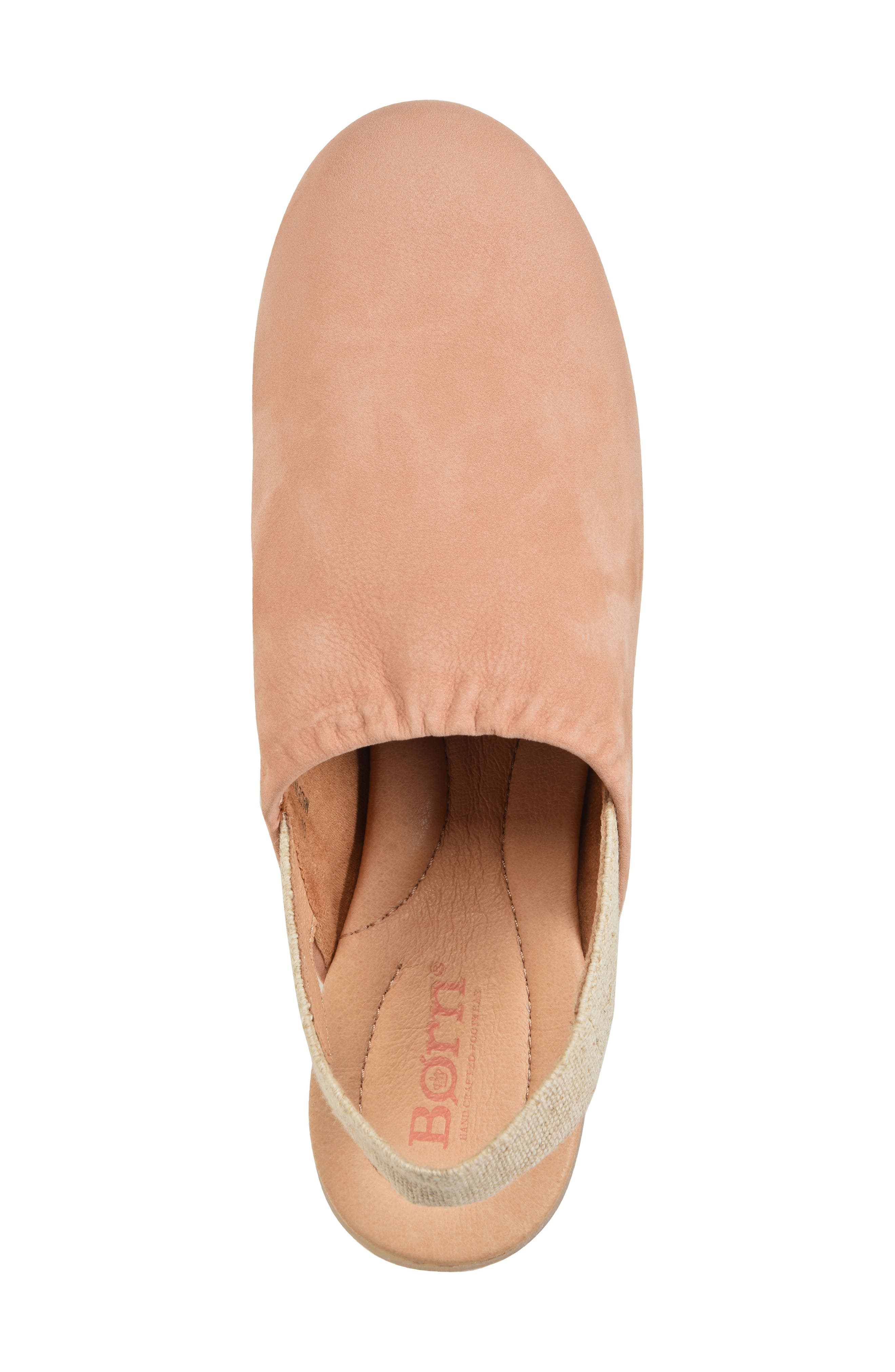 Bowe Slingback Flat,                             Alternate thumbnail 5, color,                             BLUSH NUBUCK