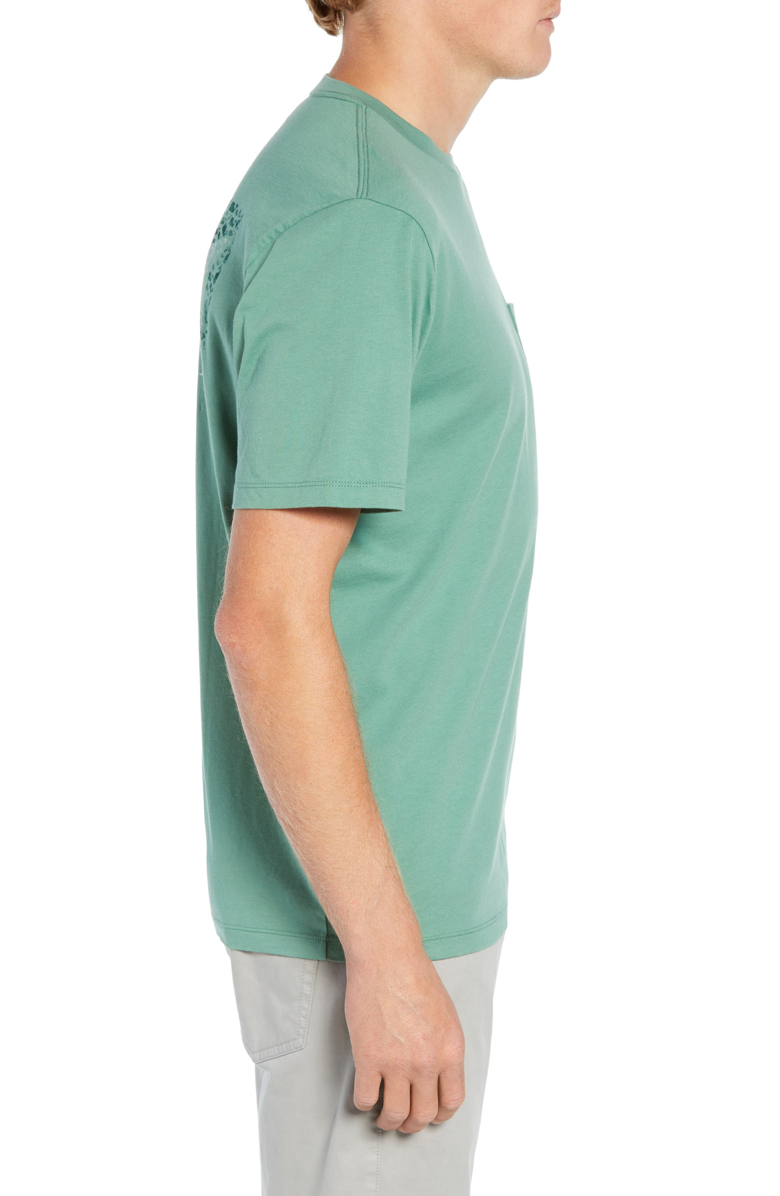 Fish Scale Pocket T-Shirt,                             Alternate thumbnail 3, color,                             STARBOARD GREEN