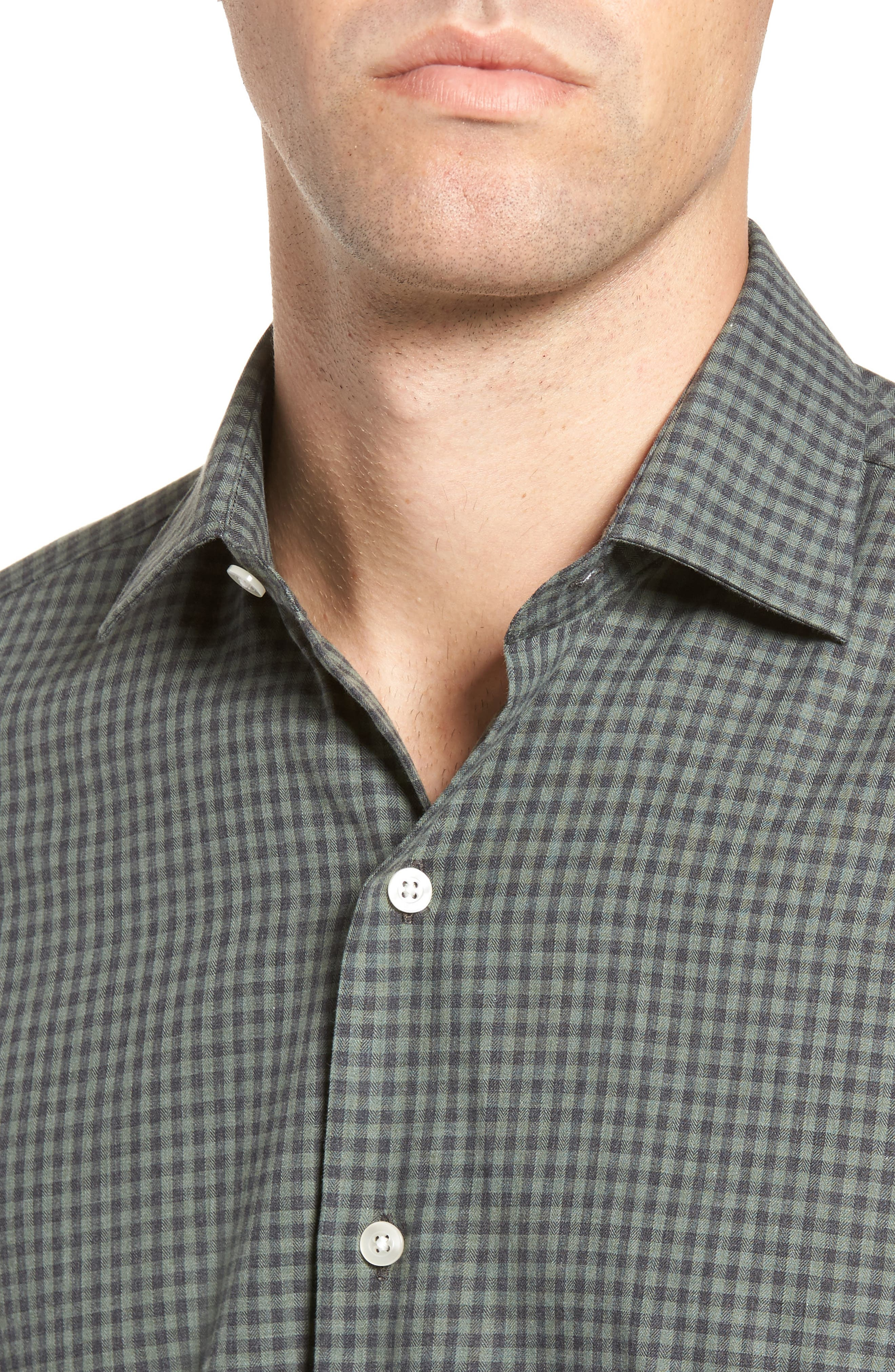 Gingham Sport Shirt,                             Alternate thumbnail 4, color,