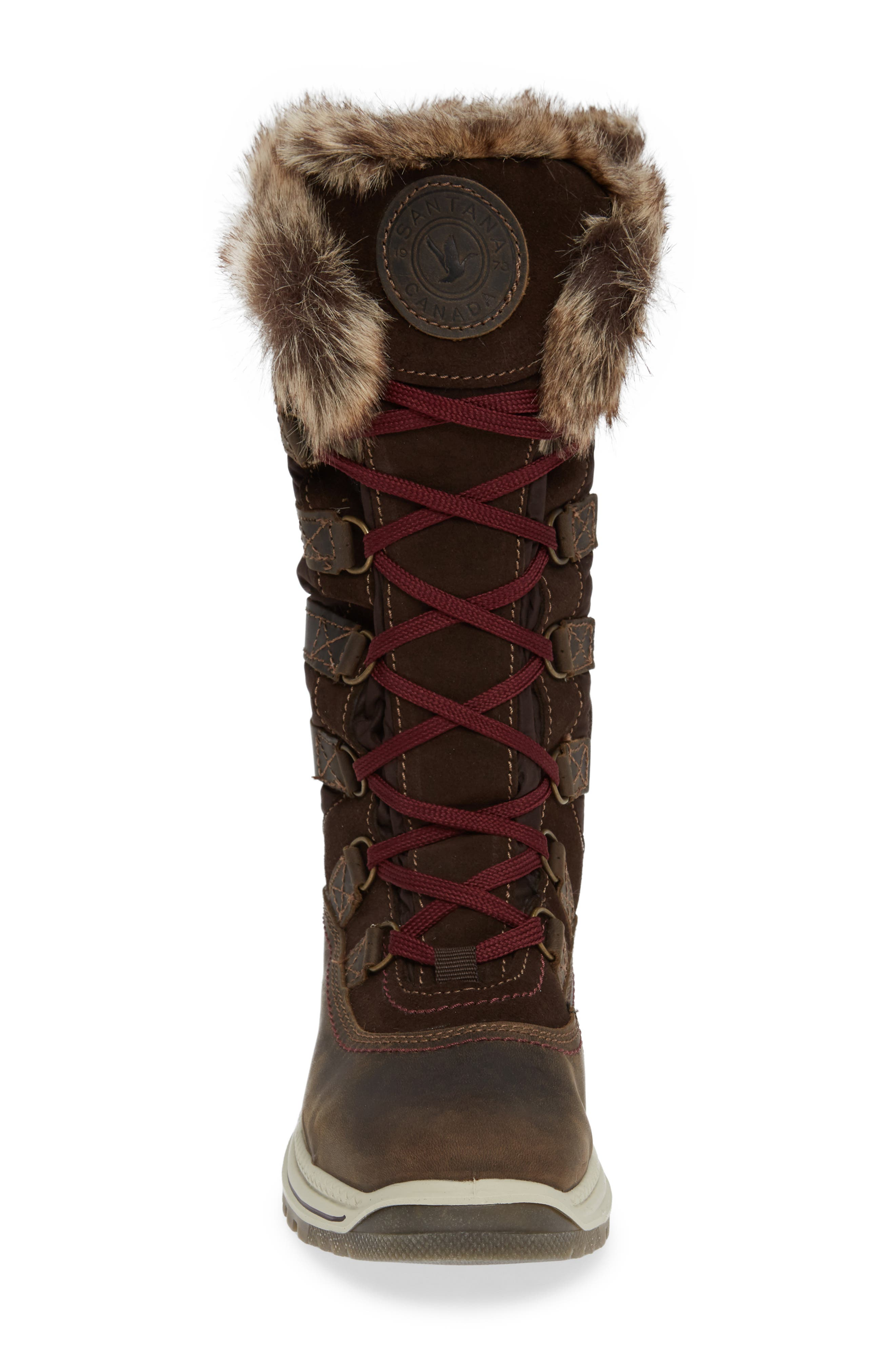 Milani Waterproof Faux Fur Boot,                             Alternate thumbnail 4, color,                             BROWN / BROWN LEATHER