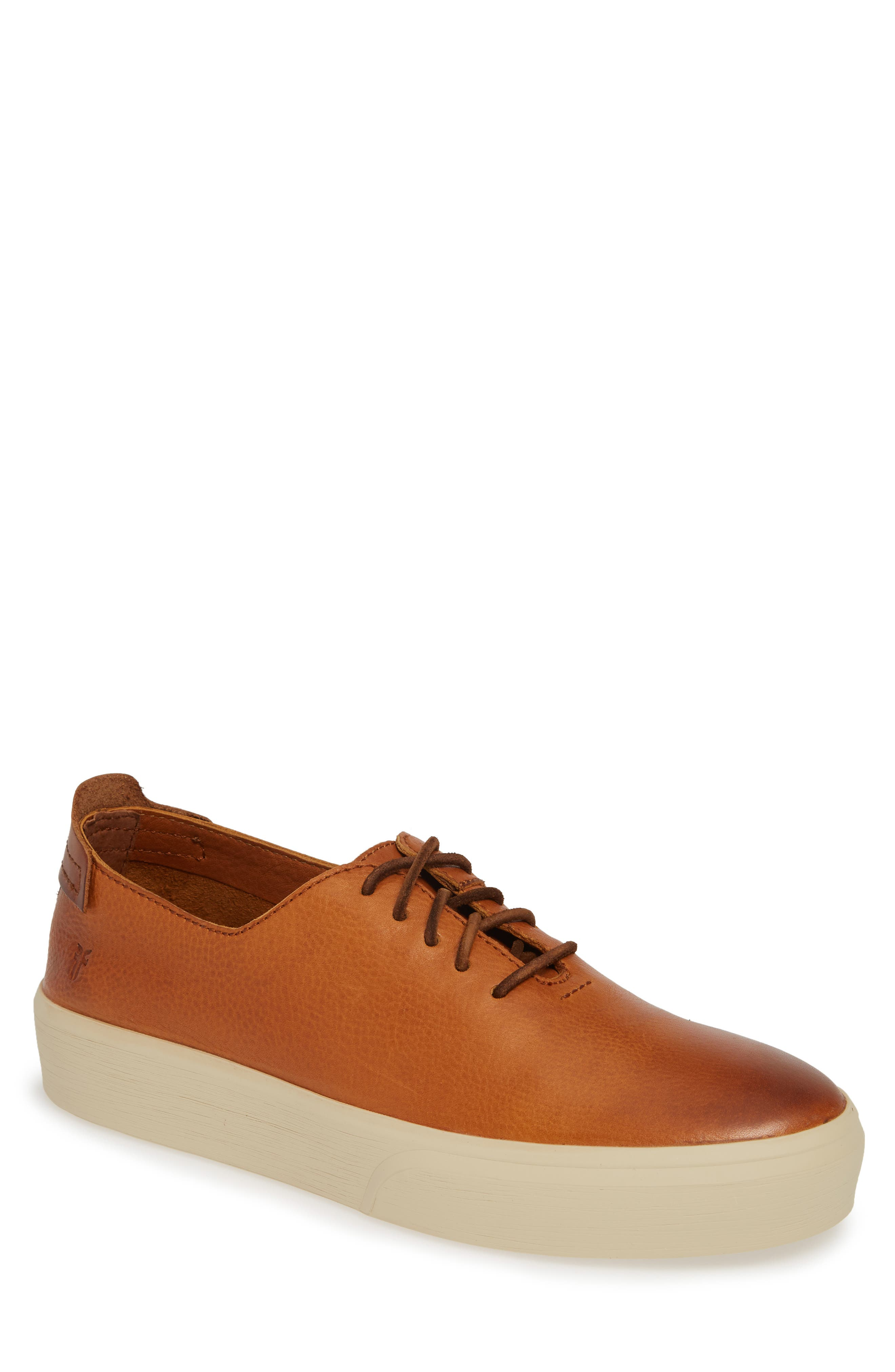 FRYE,                             Beacon Sneaker,                             Main thumbnail 1, color,                             CARAMEL LEATHER