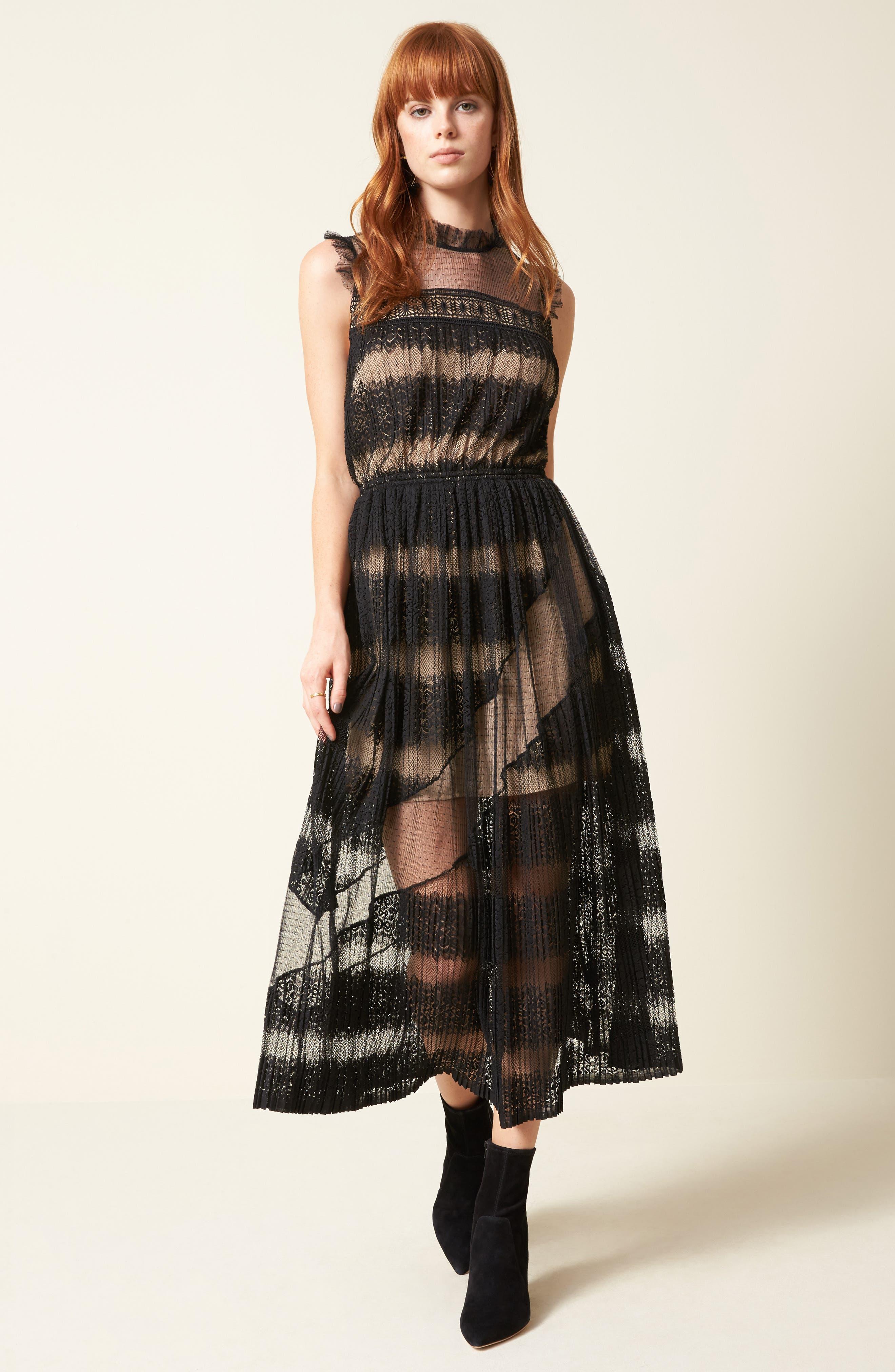 Mixed Media Dress,                             Alternate thumbnail 7, color,