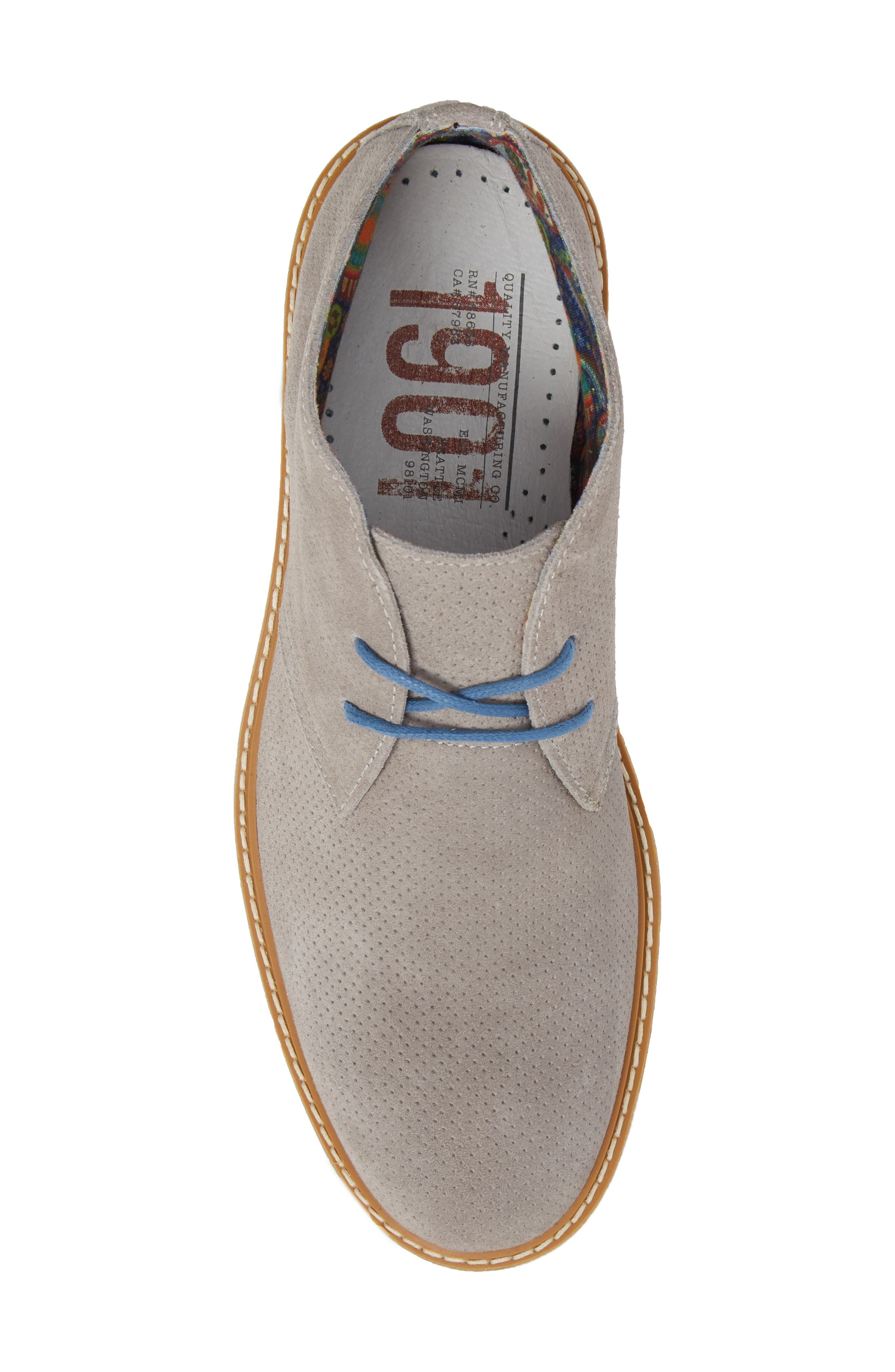 Bayside Perforated Chukka Boot,                             Alternate thumbnail 5, color,                             020