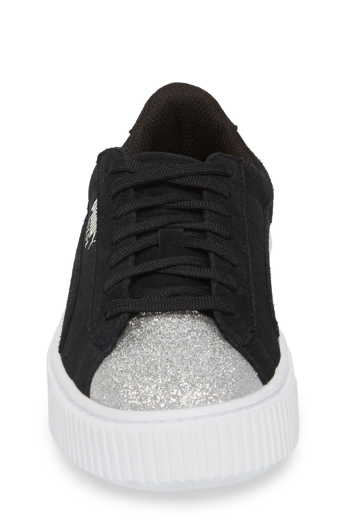 Suede Platform Glam PS Sneaker,                             Alternate thumbnail 16, color,