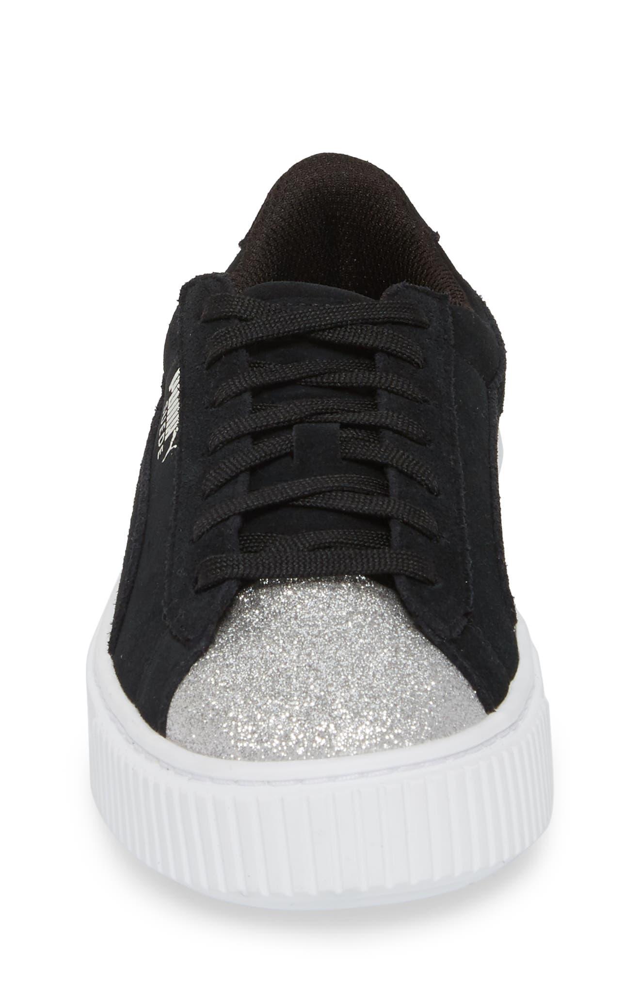 Suede Platform Glam PS Sneaker,                             Alternate thumbnail 4, color,                             012