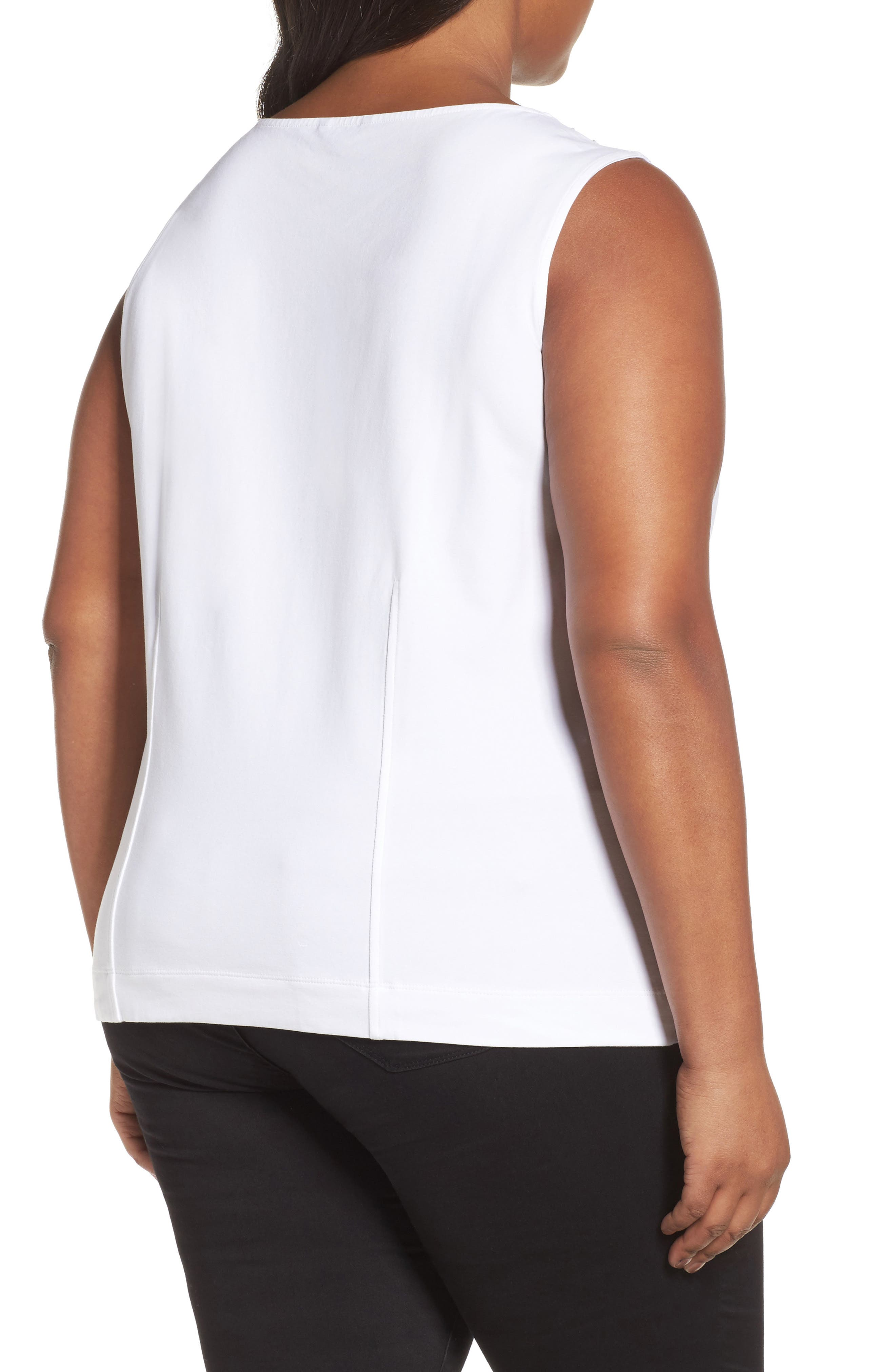 'Sweet Pleat' Sleeveless Top,                             Alternate thumbnail 2, color,                             123