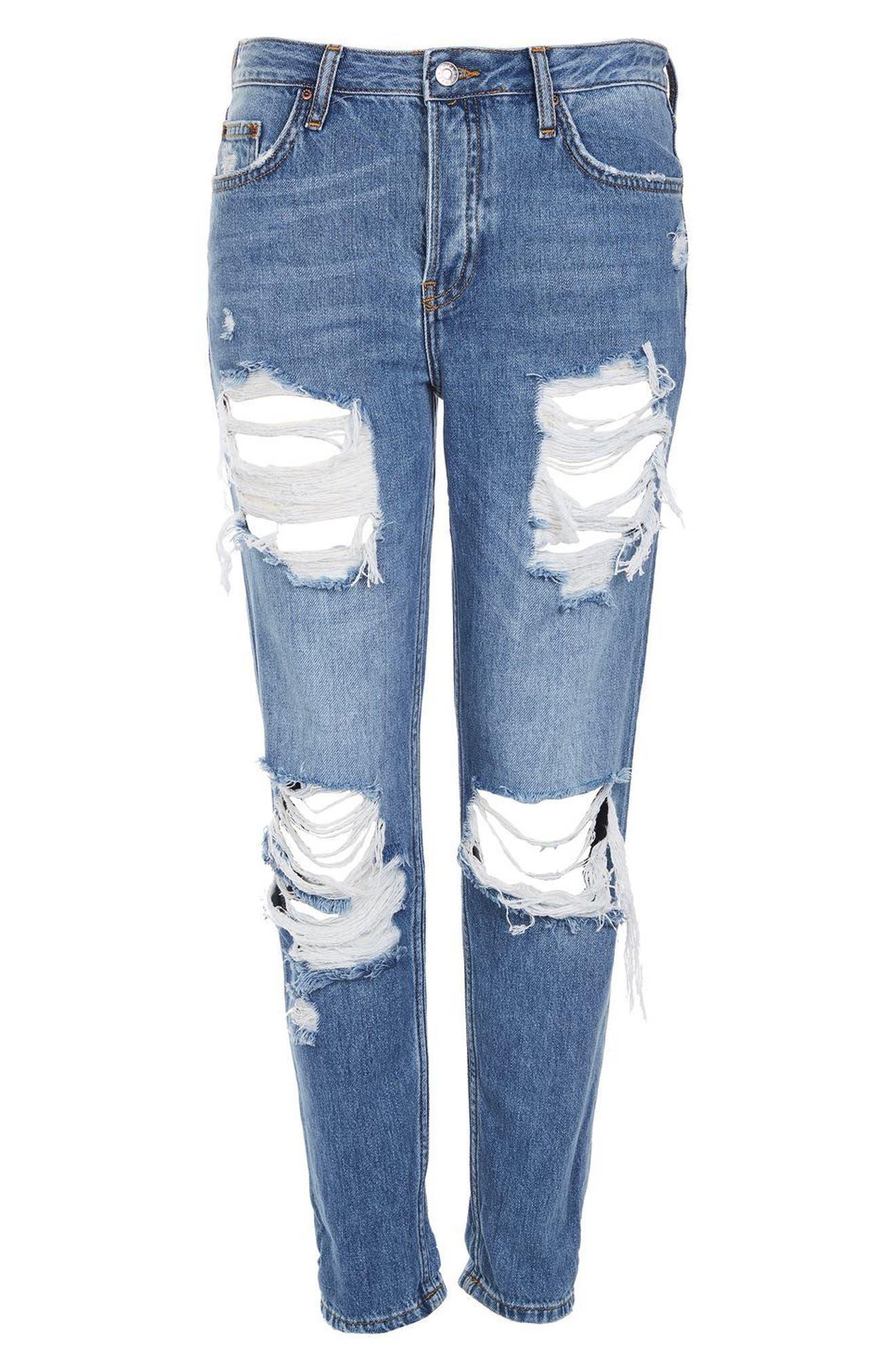 Hayden Cheeky Rip Boyfriend Jeans,                             Alternate thumbnail 4, color,                             400