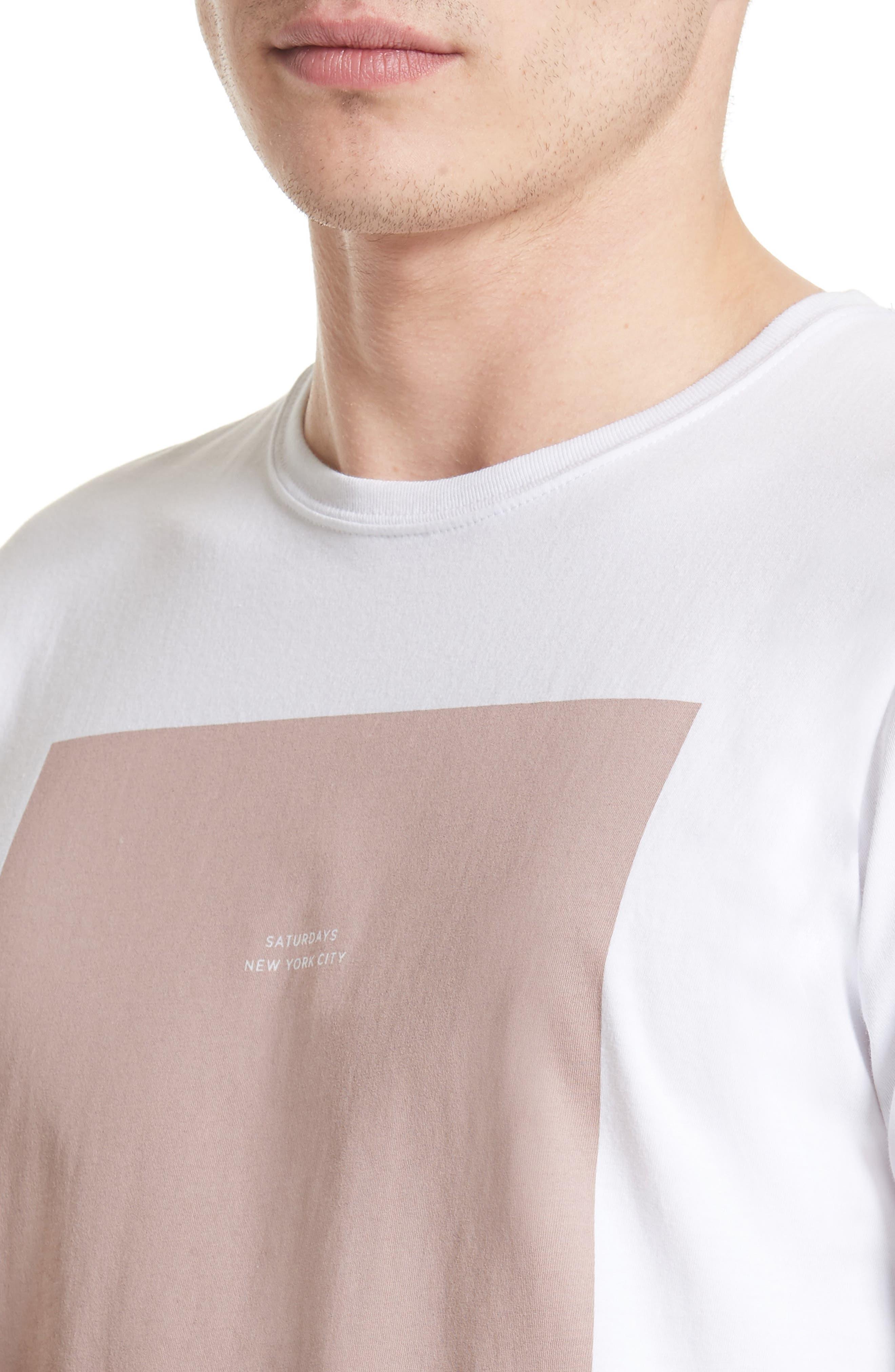 Rectangle Logo Graphic T-Shirt,                             Alternate thumbnail 4, color,                             110