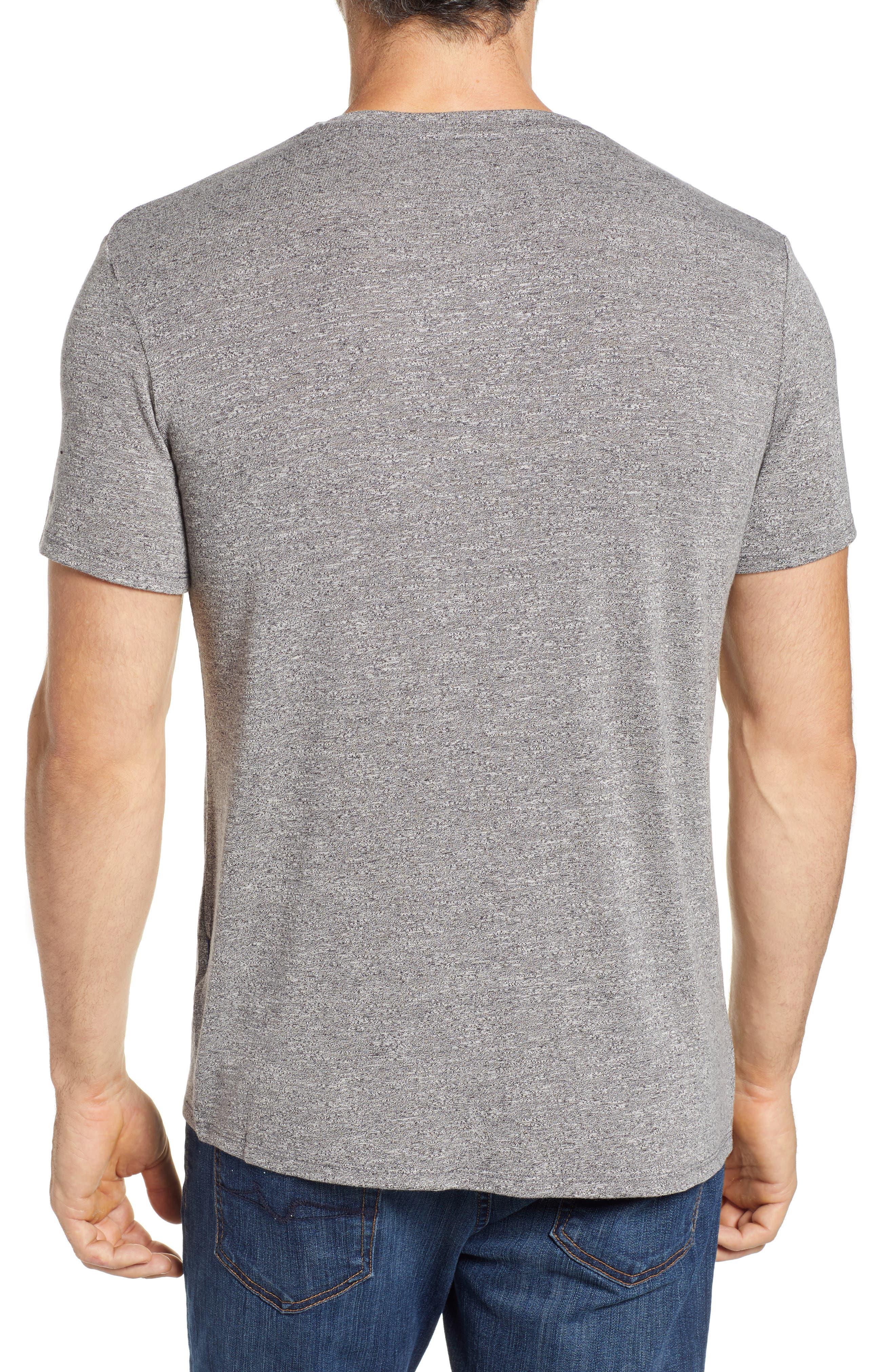 V-Neck T-Shirt,                             Alternate thumbnail 2, color,                             GREY
